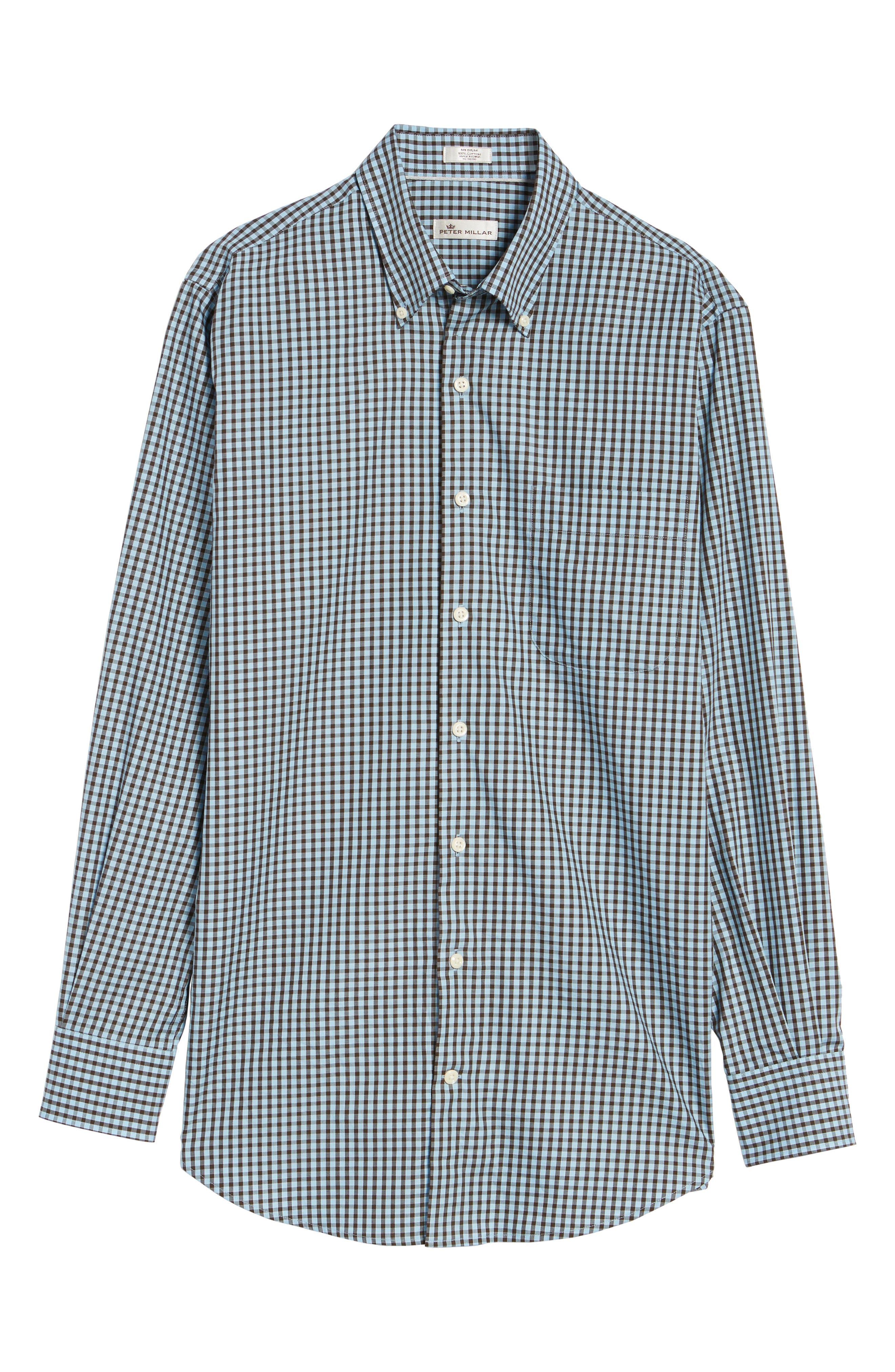 Alternate Image 6  - Peter Millar Midwinter Gingham Regular Fit Sport Shirt