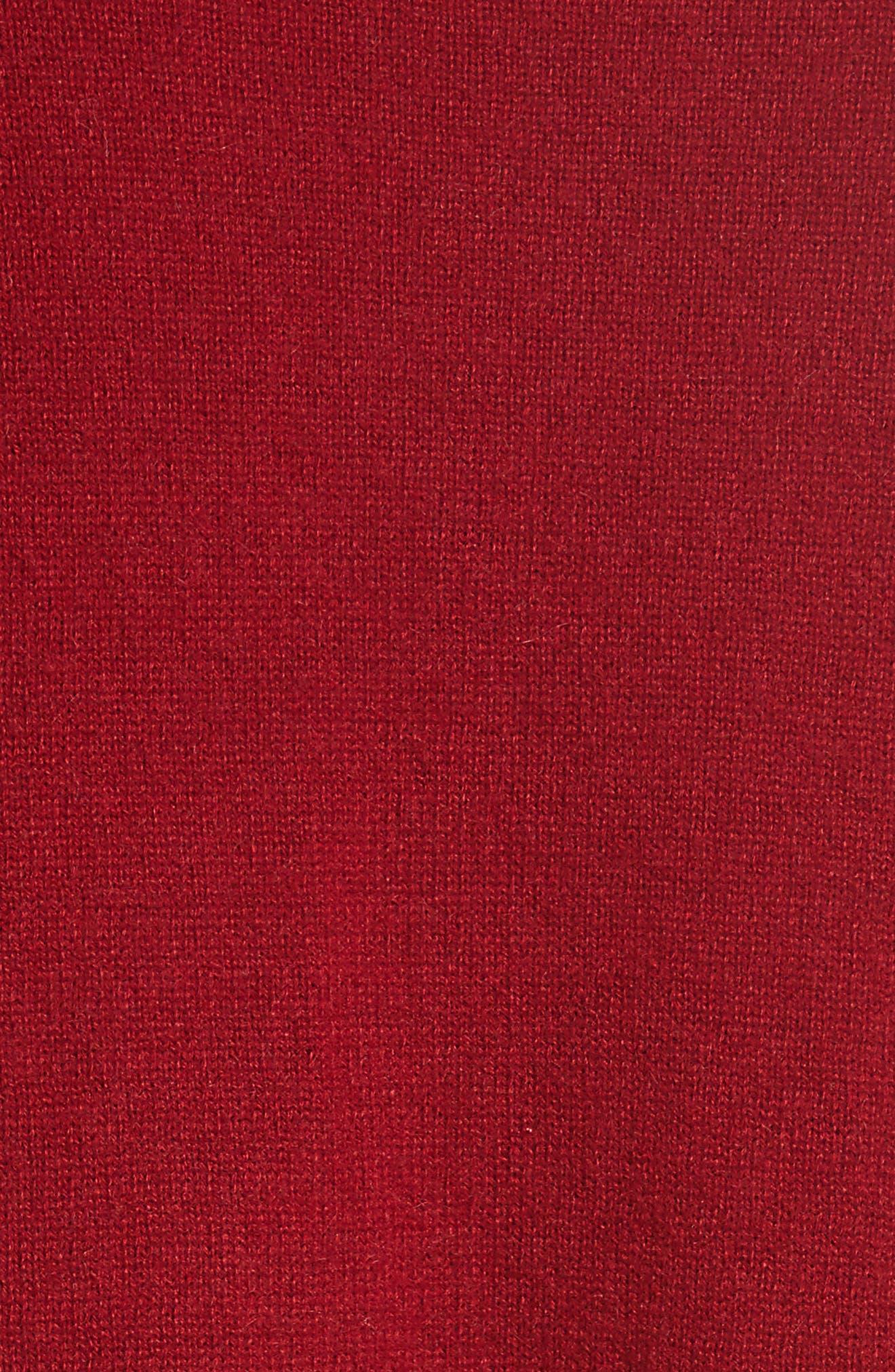 Melanie Cashmere Sweater,                             Alternate thumbnail 5, color,                             Rhubarb