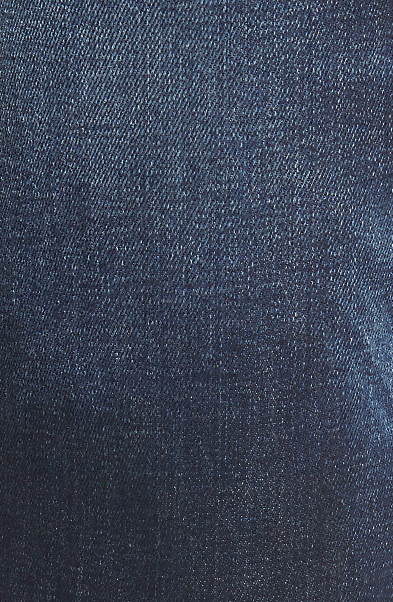 Fourk Skinny Fit Jeans,                             Alternate thumbnail 4, color,                             Denim