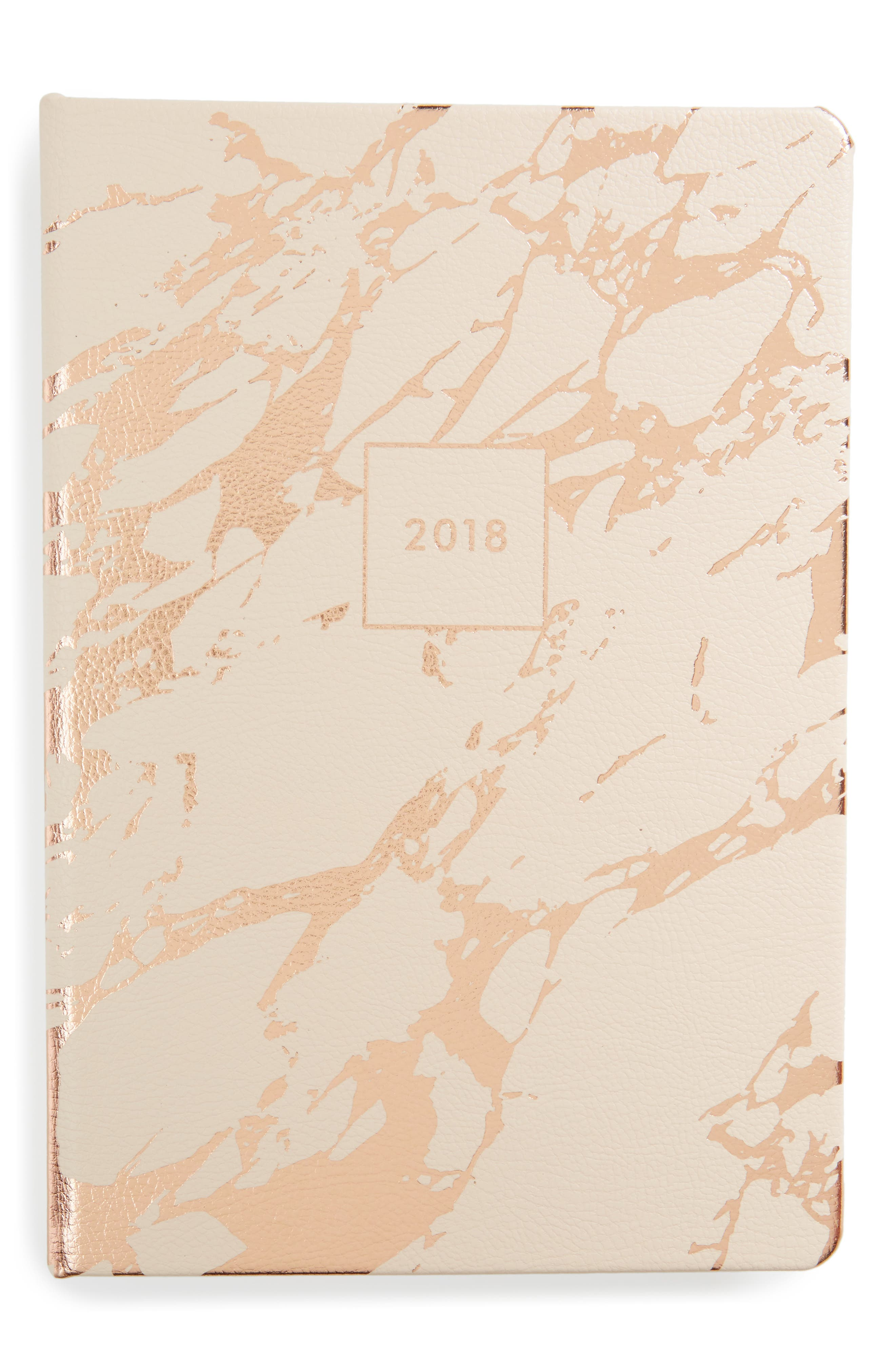 Alternate Image 1 Selected - Fringe Studio Blush Marble 17-Month Agenda