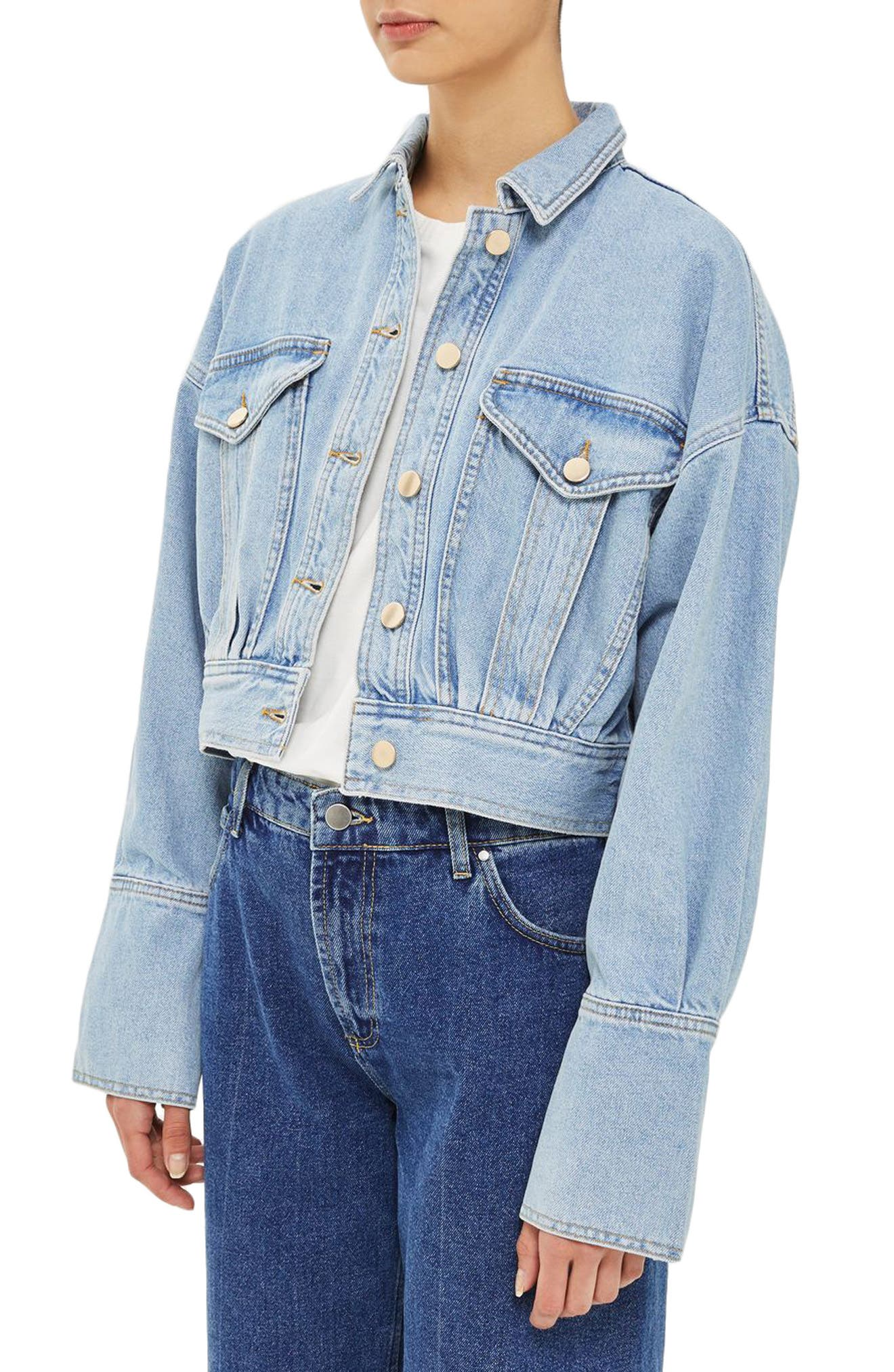 Alternate Image 3  - Topshop Boutique Crop Denim Jacket