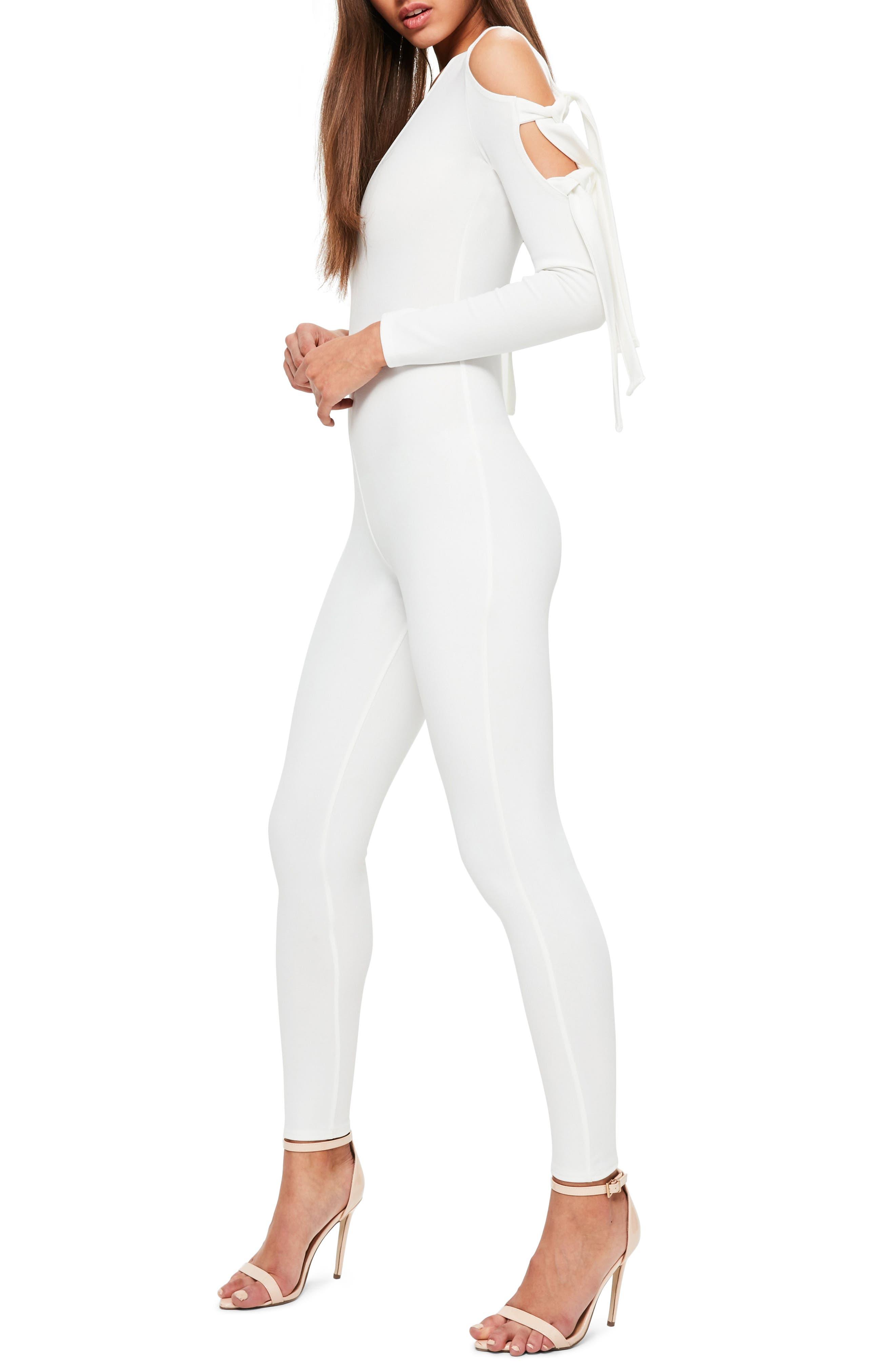 Alternate Image 3  - Missguided Cold Shoulder Jumpsuit