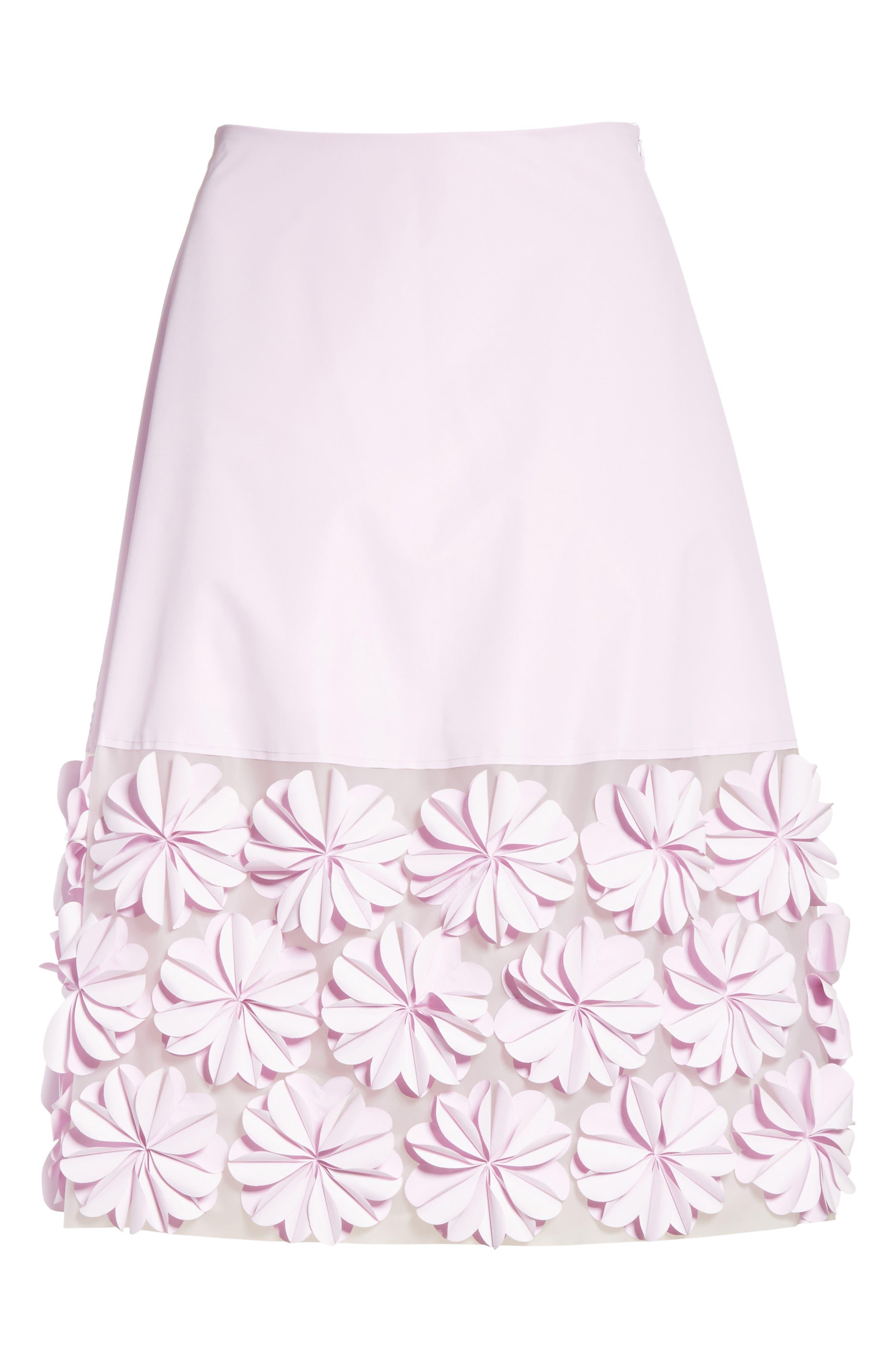 Alternate Image 6  - PASKAL Reflective Floral Appliqué Skirt