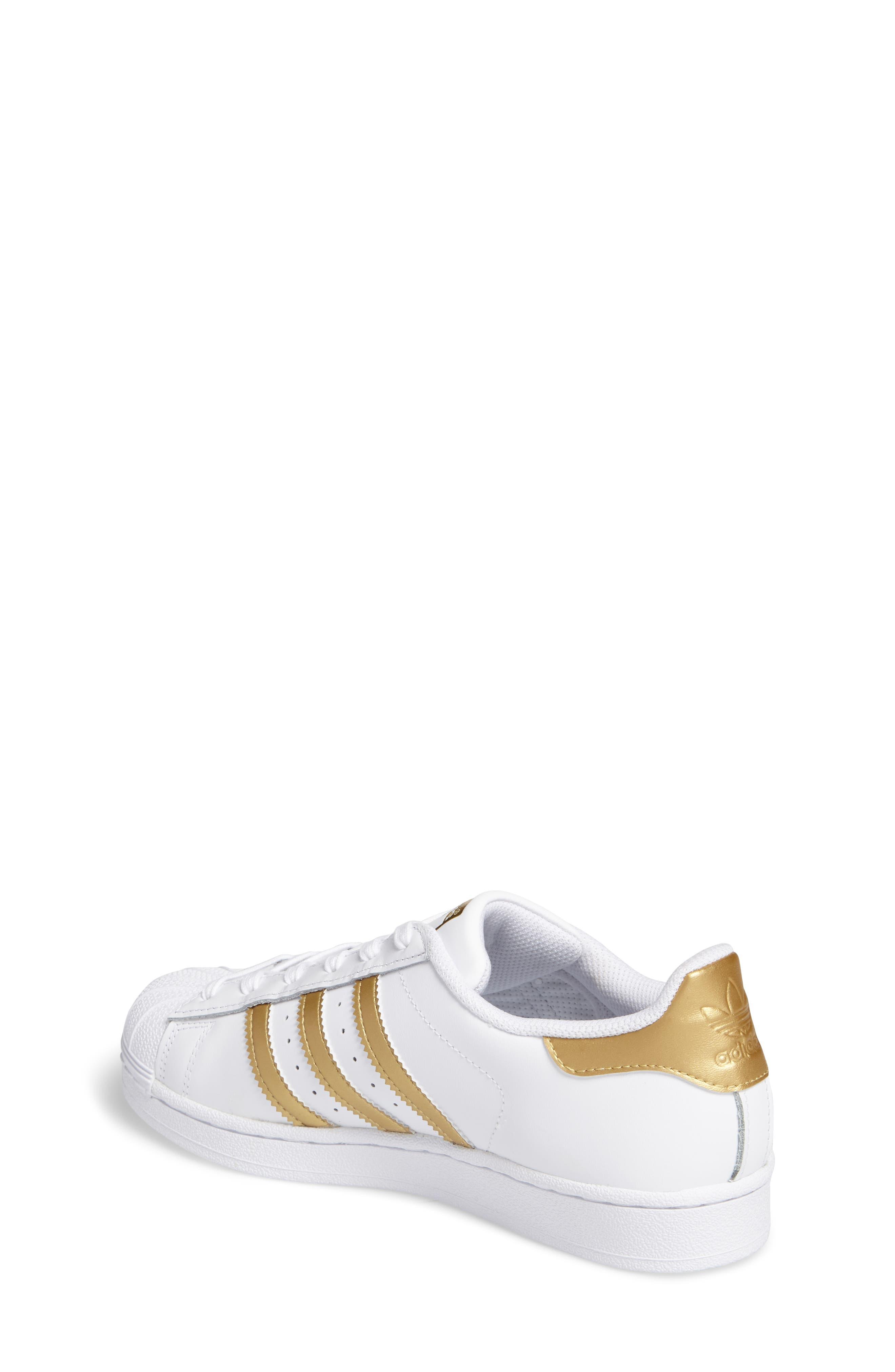 Alternate Image 2  - adidas Superstar J Sneaker (Big Kid)