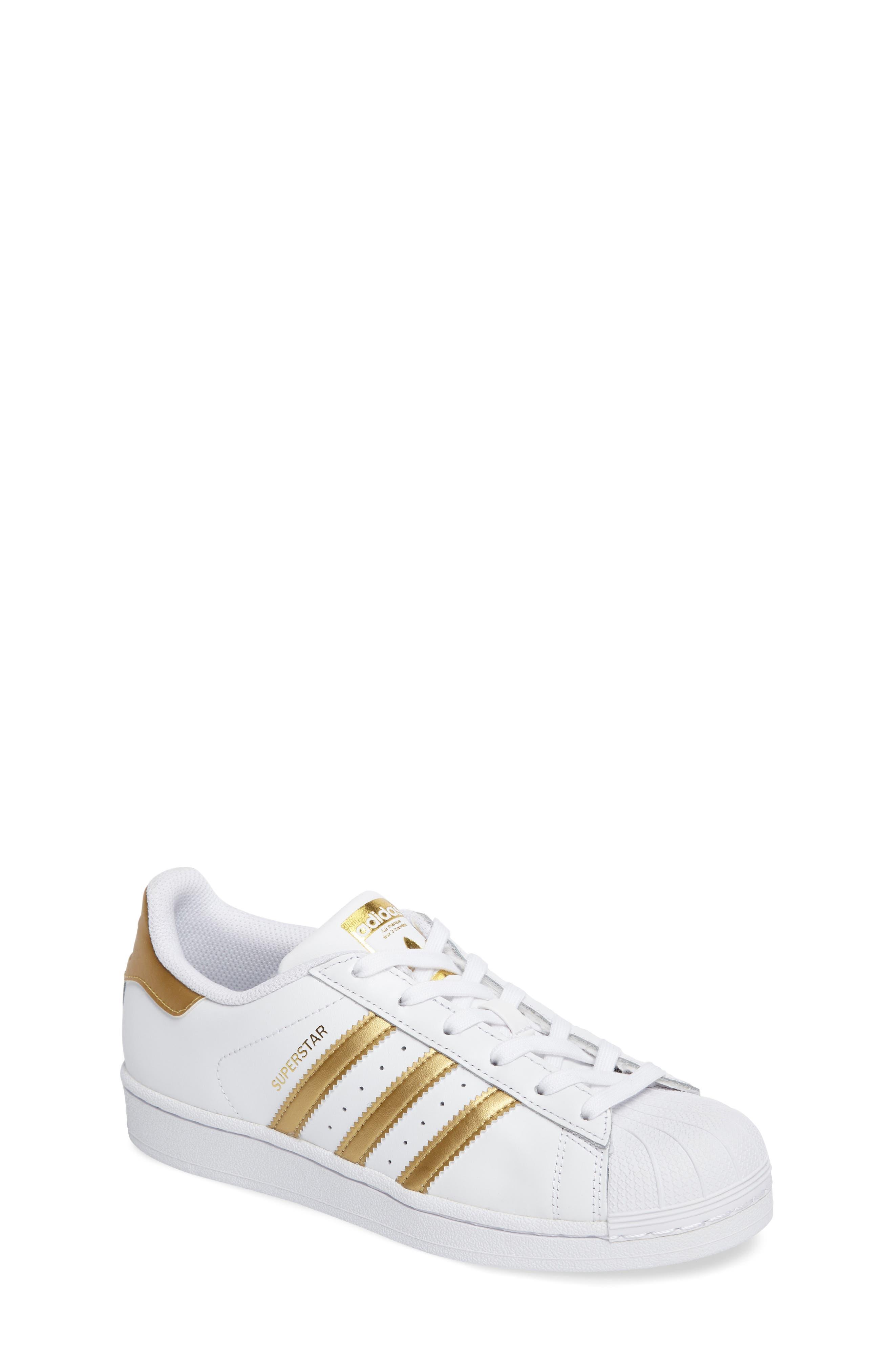 Alternate Image 1 Selected - adidas Superstar J Sneaker (Big Kid)