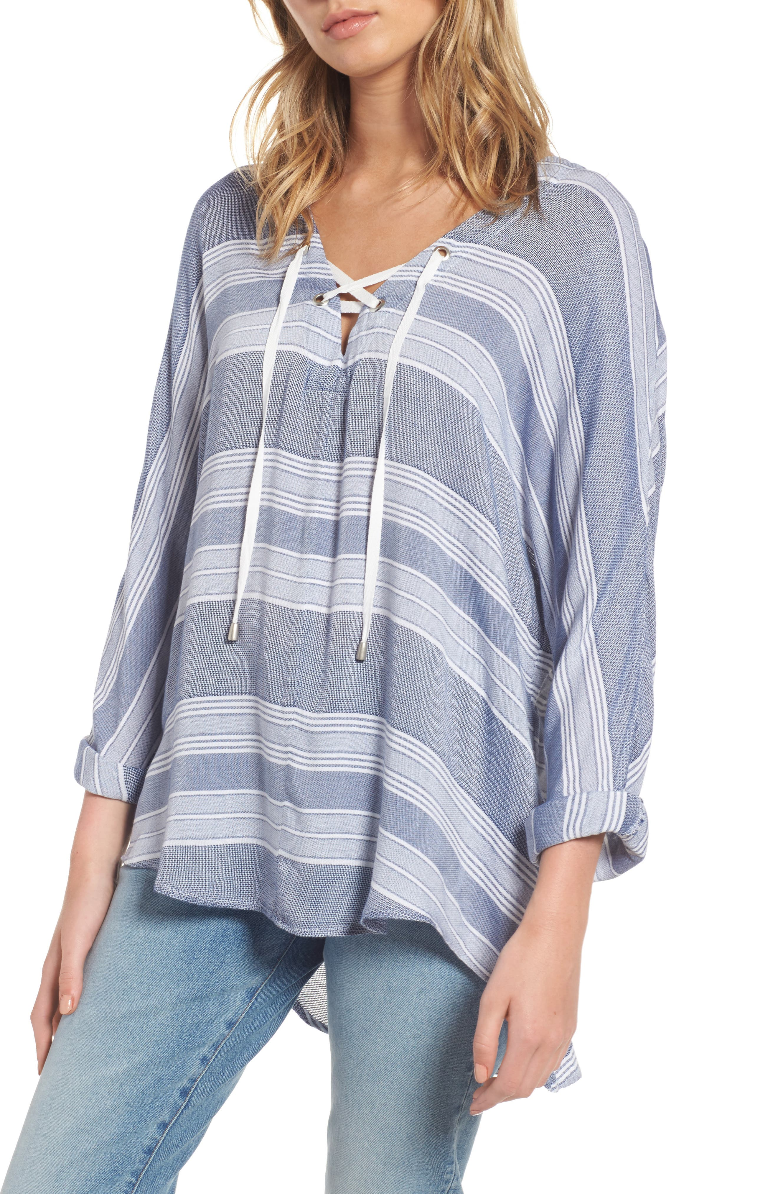 Alternate Image 1 Selected - Rails Lily Stripe Drawstring Top