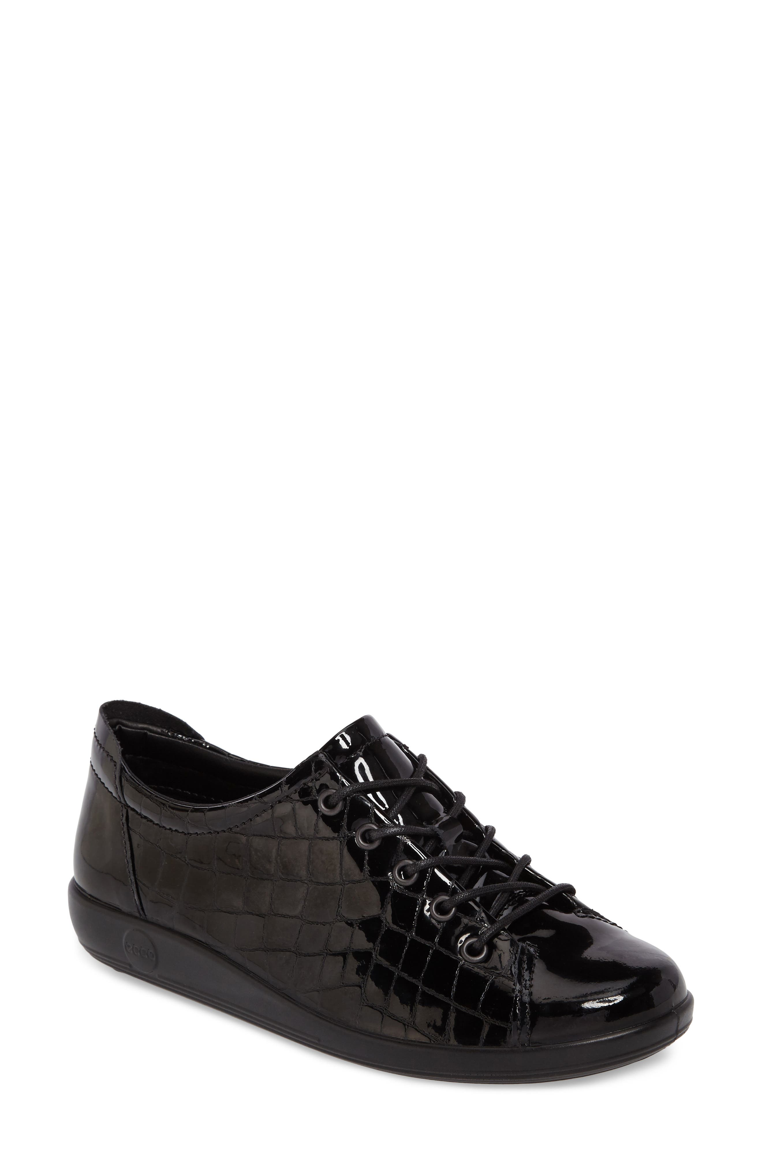 'Soft 2.0' Sneaker,                             Main thumbnail 1, color,                             Black Patent Leather