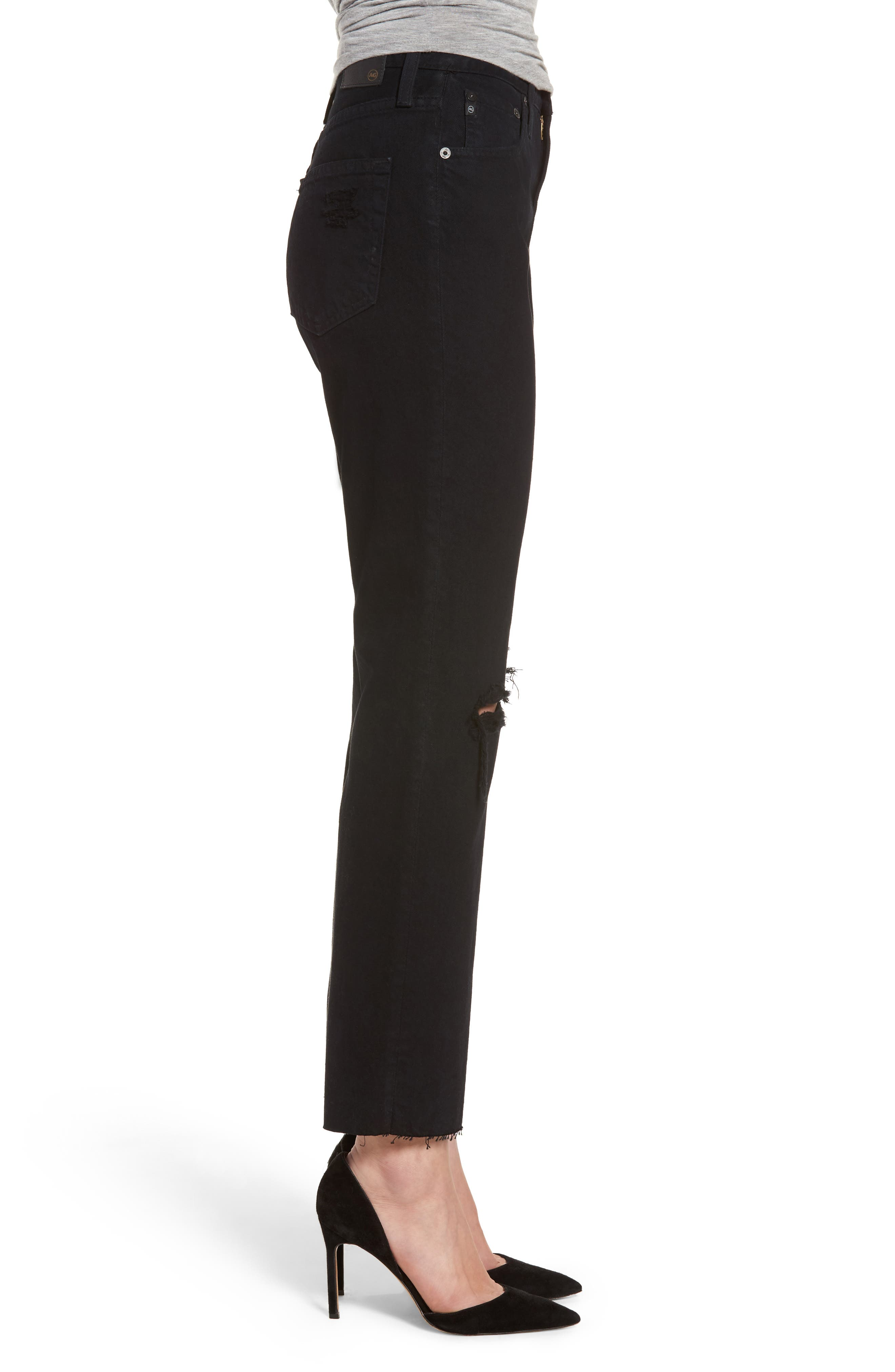 Phoebe High Rise Straight Leg Jeans,                             Alternate thumbnail 3, color,                             Rebellion