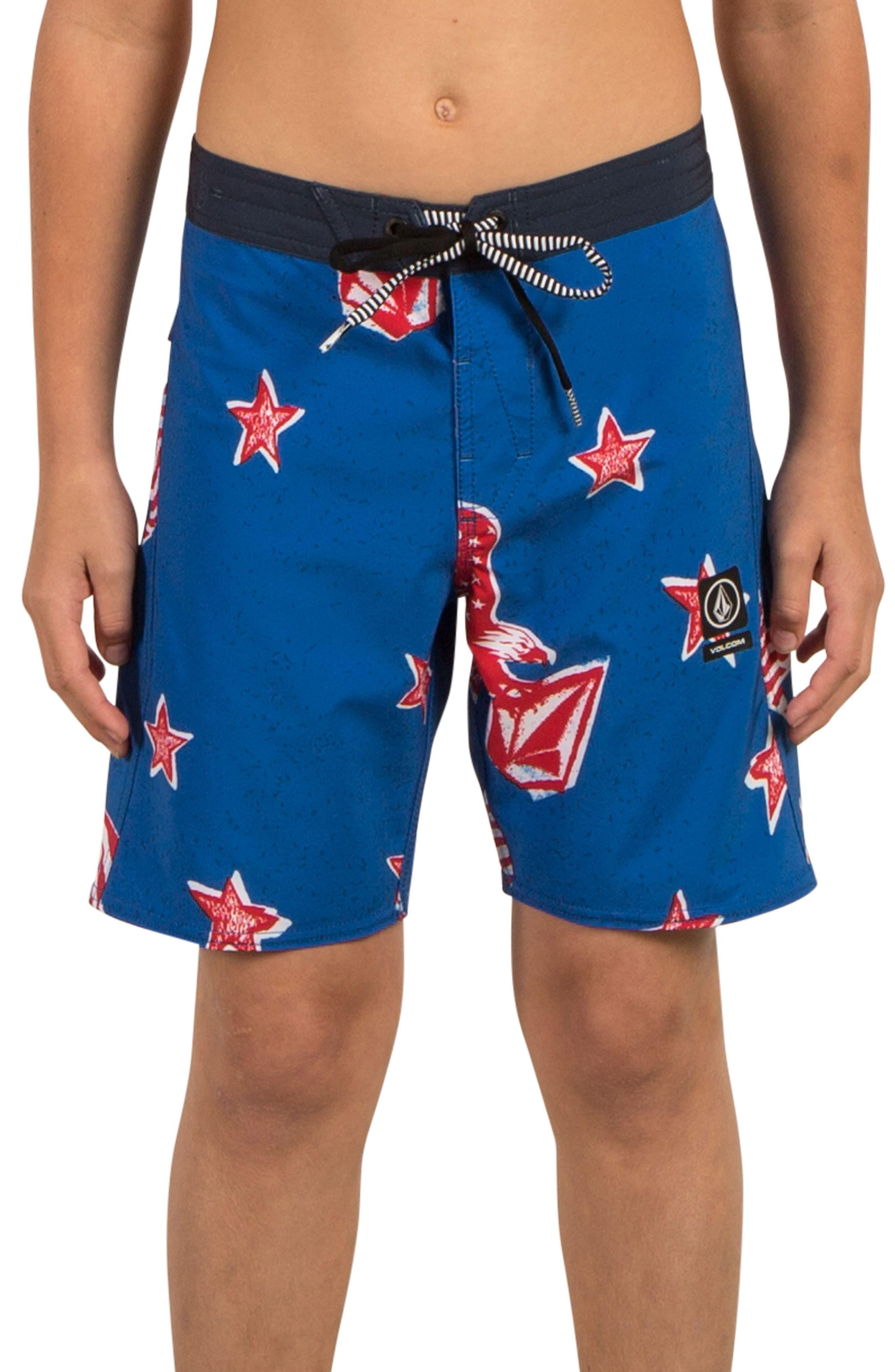 Freedom Swim Trunks,                         Main,                         color, True Blue