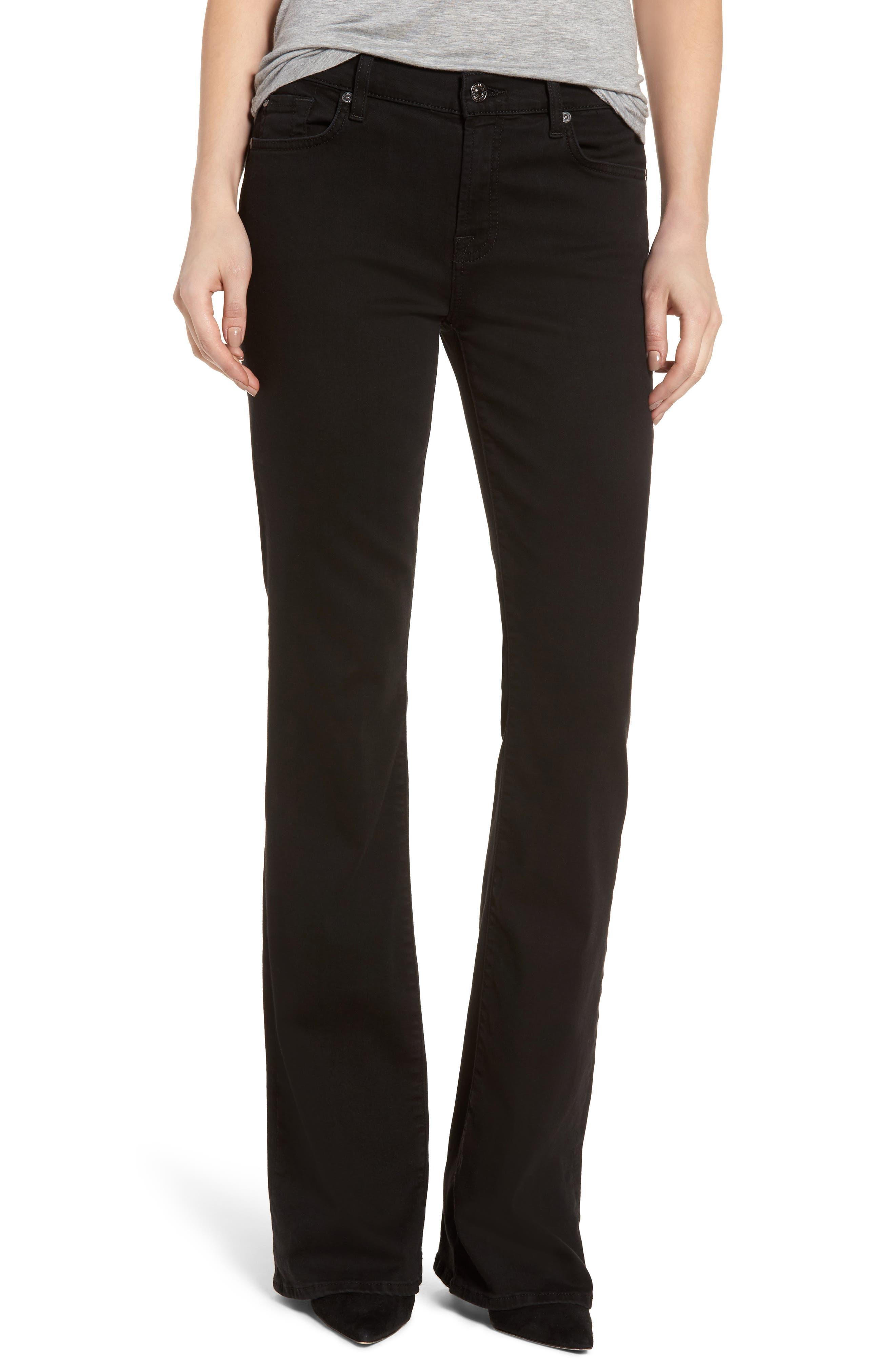 Main Image - 7 For All Mankind® b(air) Bootcut Jeans (b(air) Black)