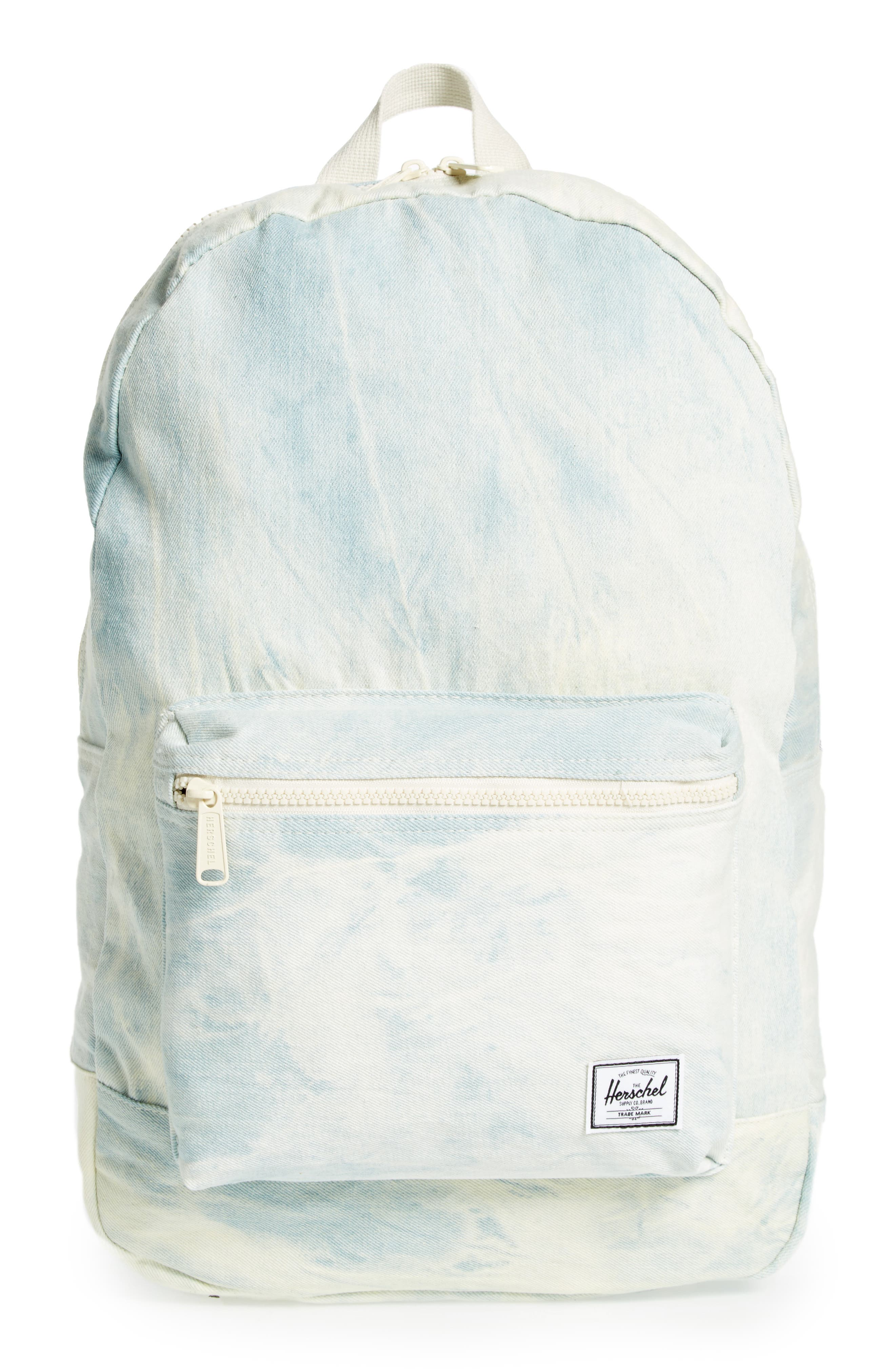 Cotton Casuals Daypack Backpack,                             Main thumbnail 1, color,                             Bleach Denim