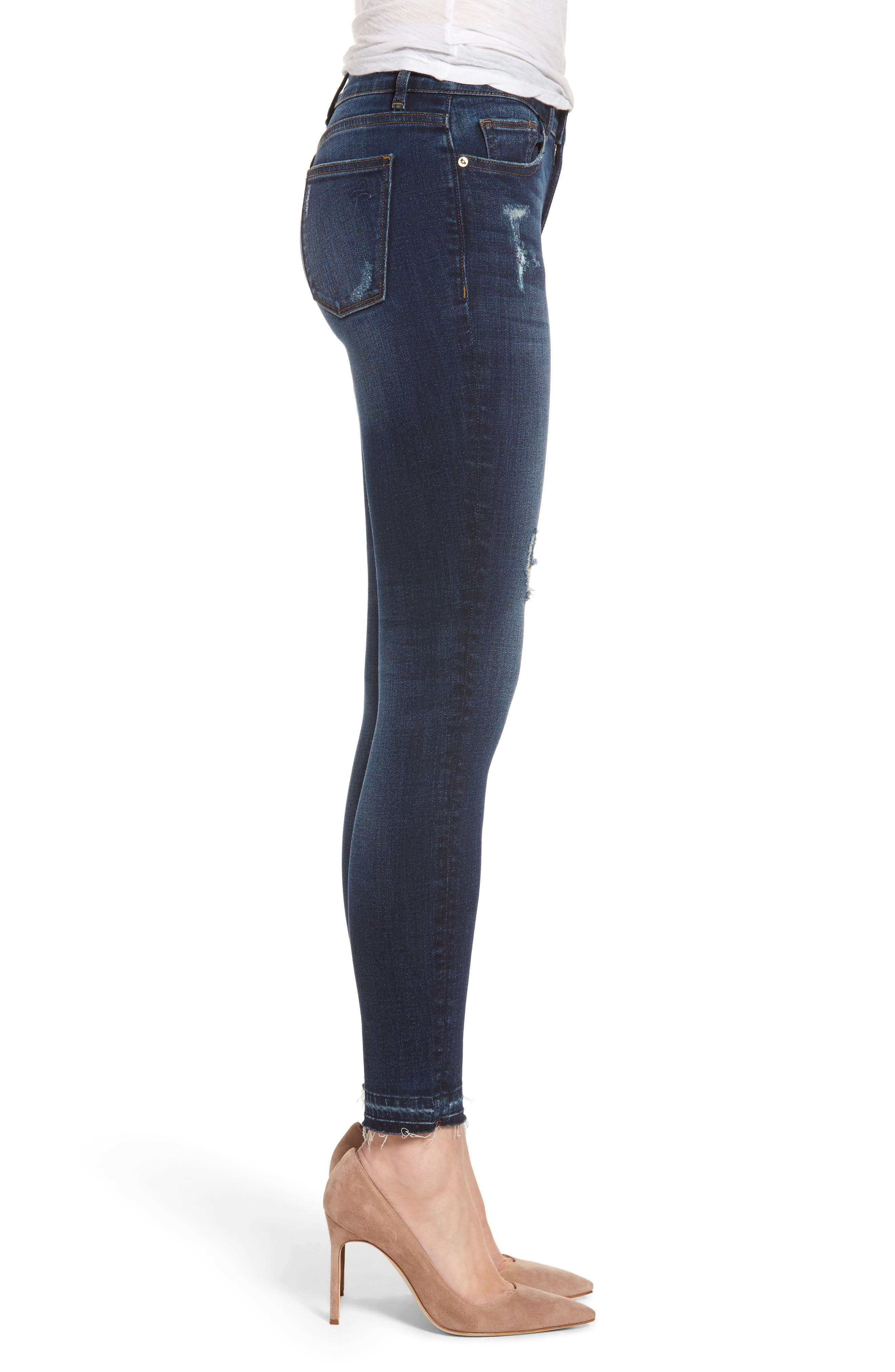 Margaux Instasculpt Ankle Skinny Jeans,                             Alternate thumbnail 3, color,                             Theila