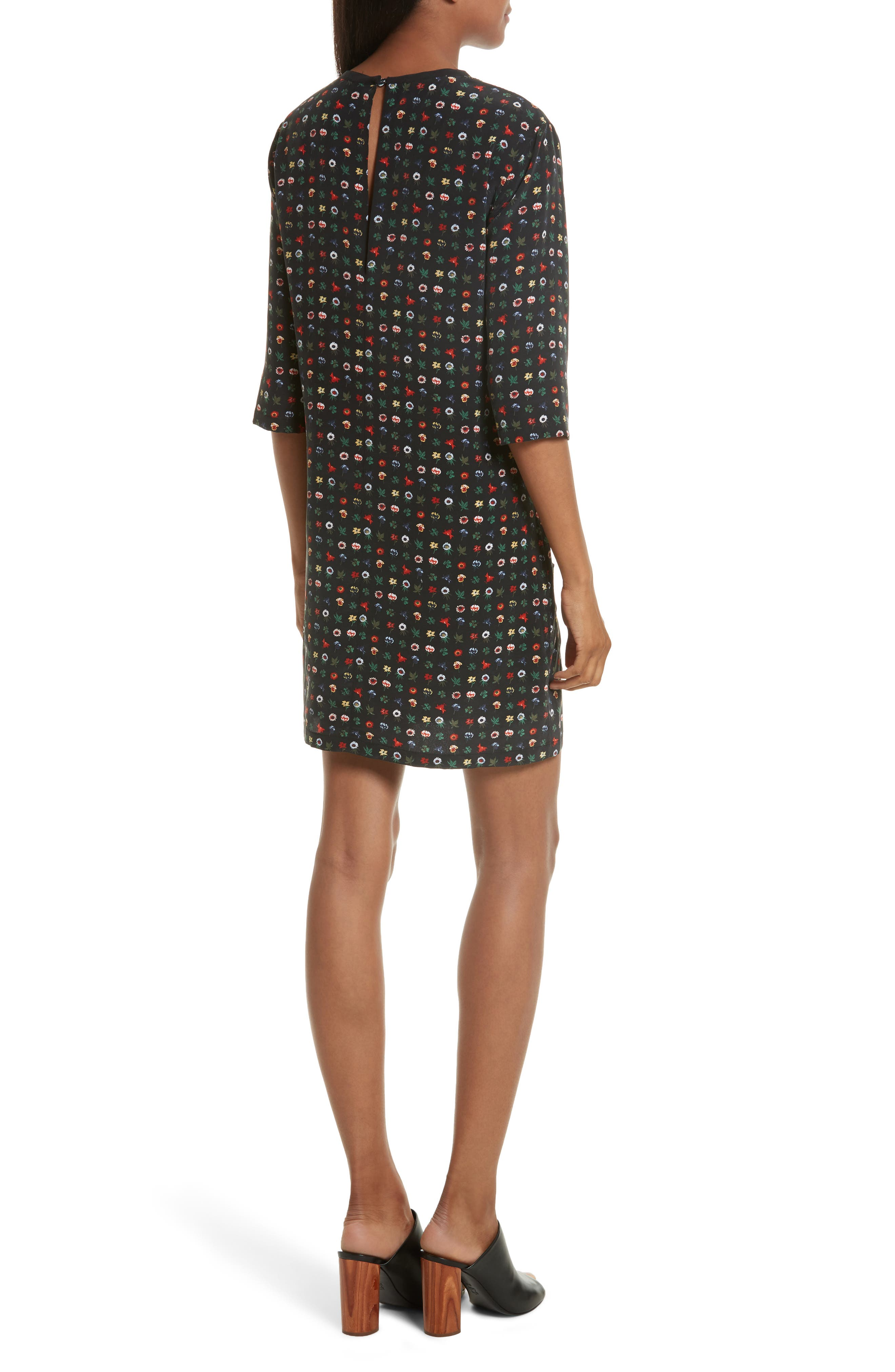 Alternate Image 2  - Equipment Aubrey Floral Silk Shift Dress