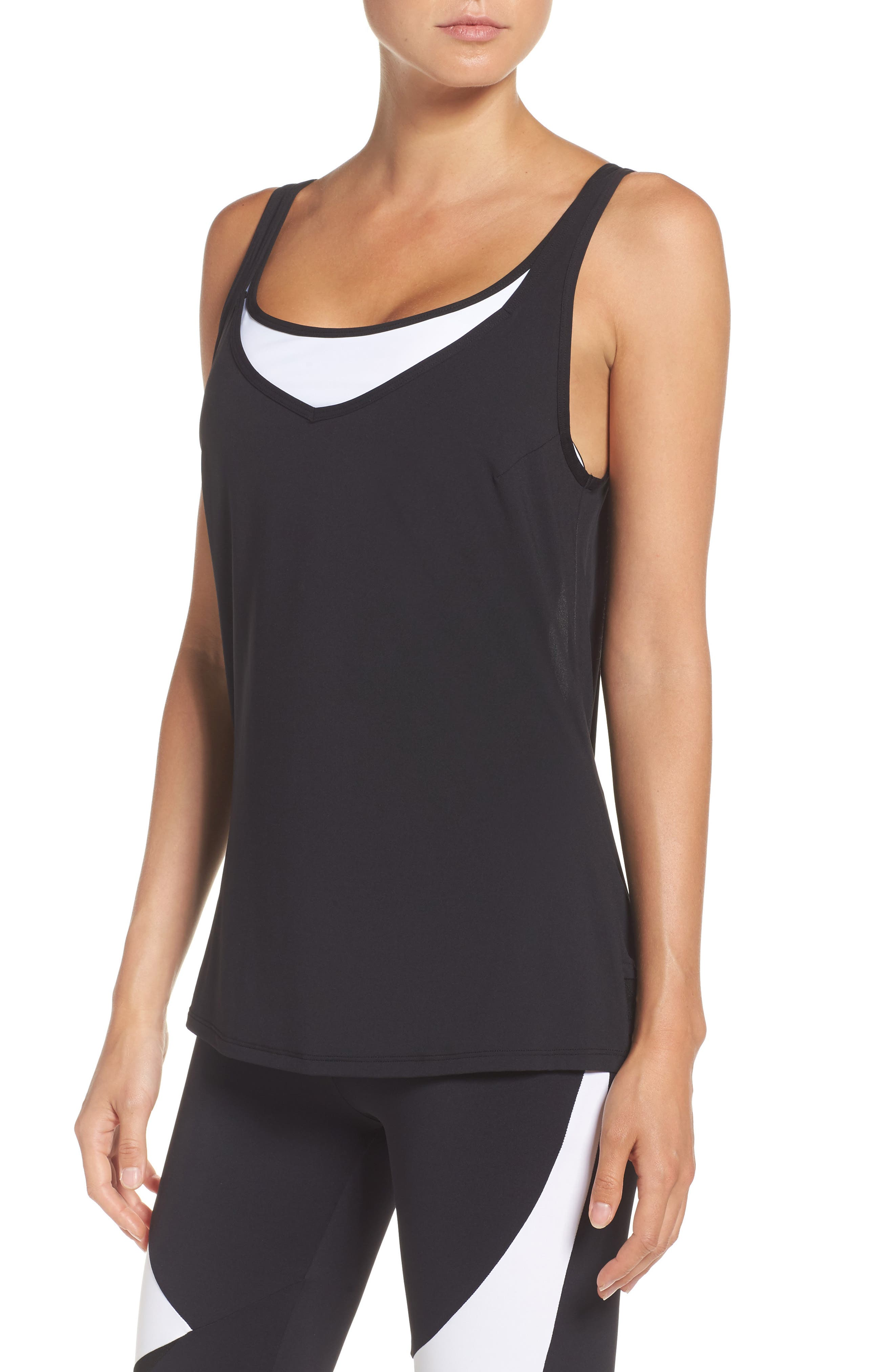 Main Image - BoomBoom Athletica Grace Tank & Sports Bra
