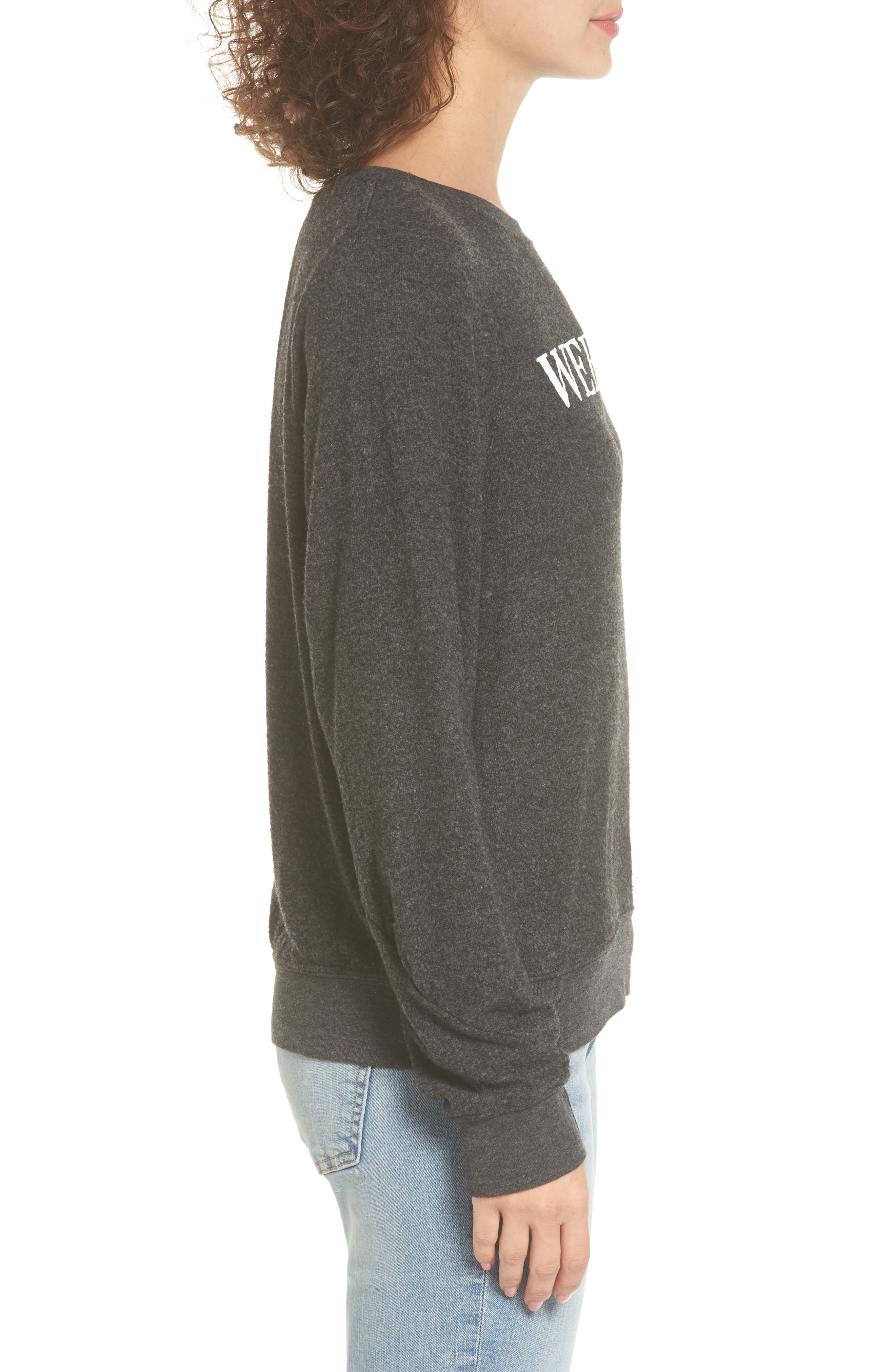 Weekend Pullover,                             Alternate thumbnail 3, color,                             Black