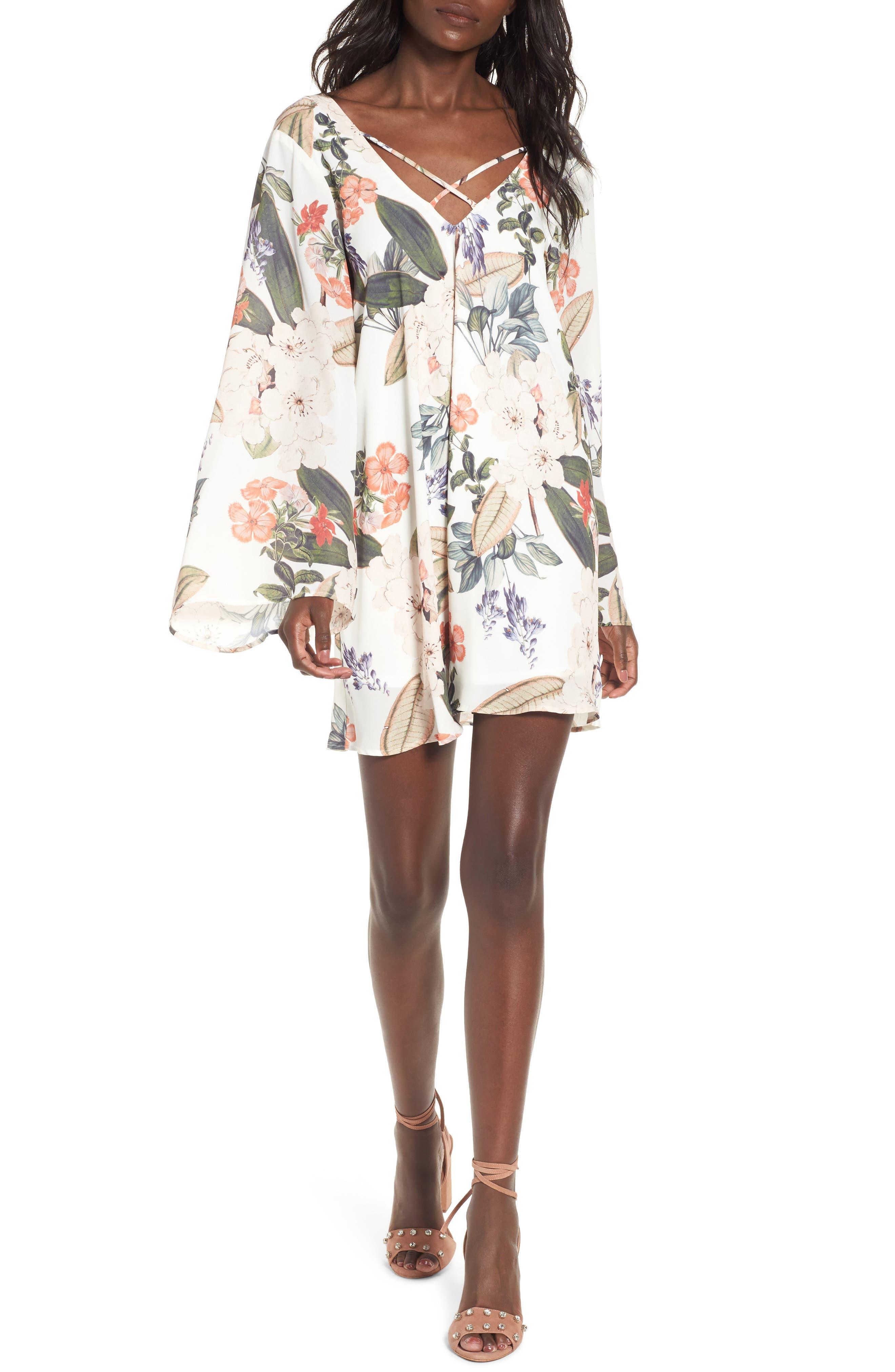 Joni Flow Dress,                         Main,                         color, Enchanted Florist
