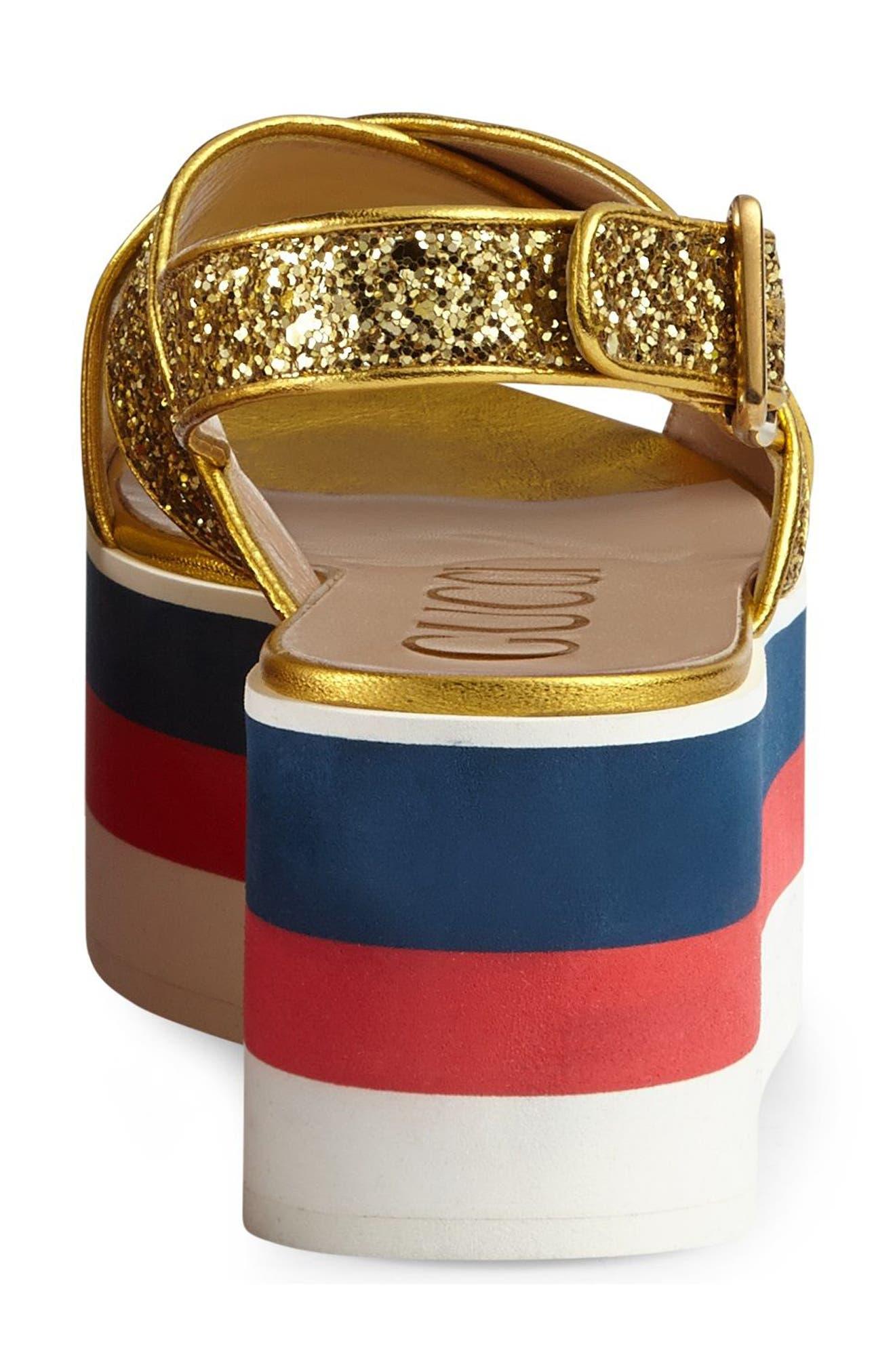Alternate Image 3  - Gucci Glitter Flatform Sandal (Women)