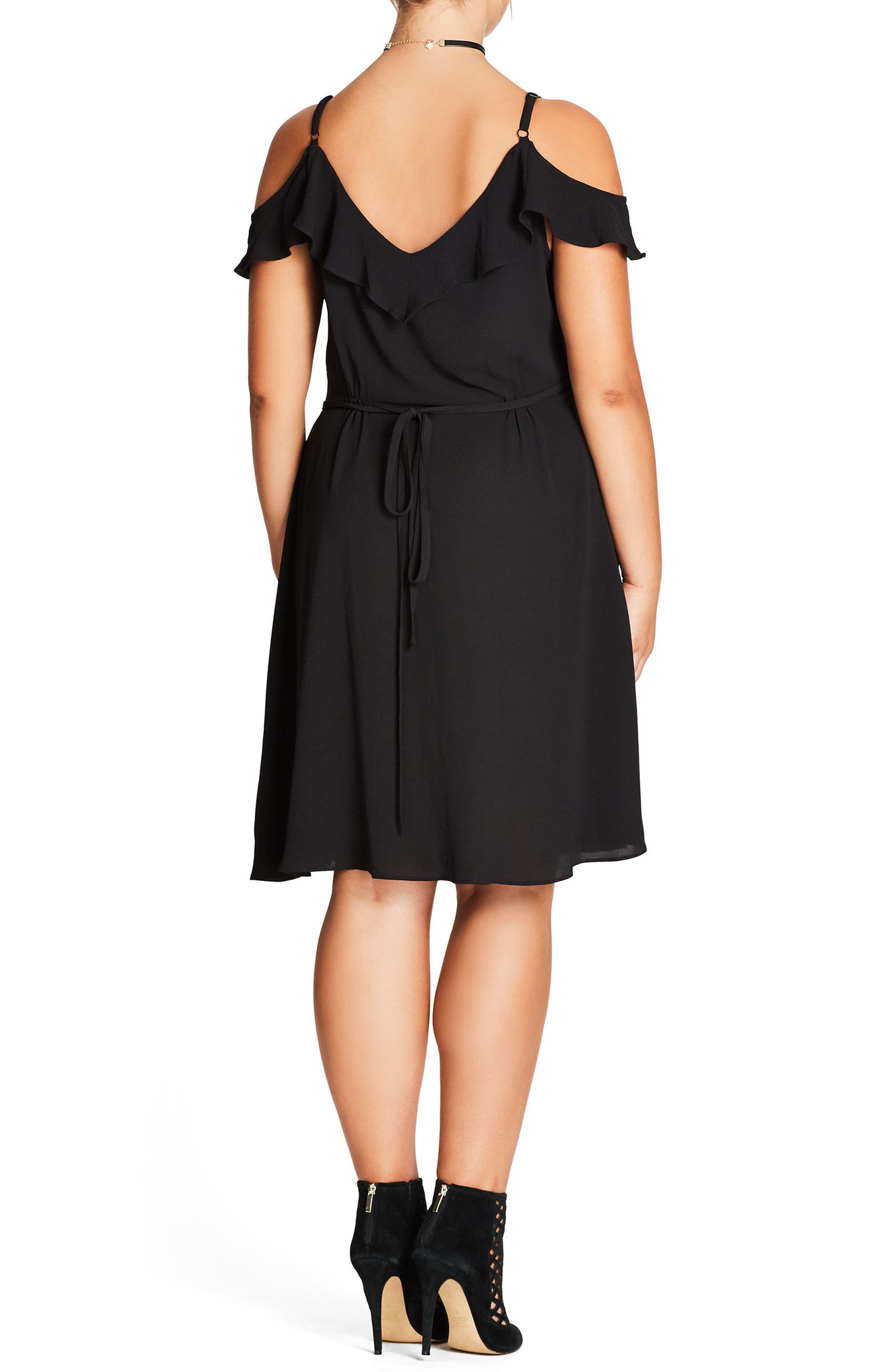 Alternate Image 2  - City Chic Lulu Faux Wrap Dress (Plus Size)