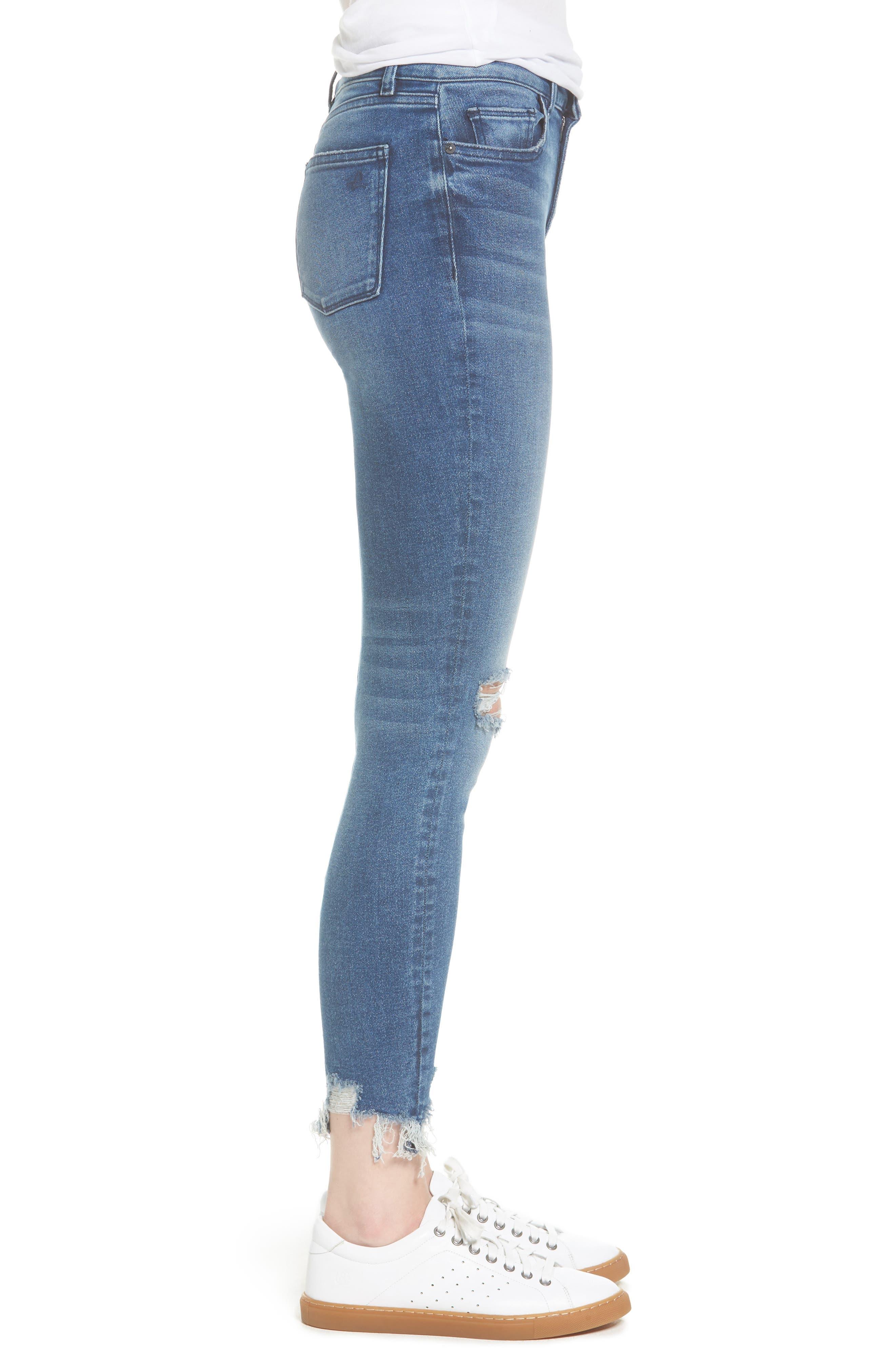 Farrow Instaslim High Waist Ankle Skinny Jeans,                             Alternate thumbnail 3, color,                             Laramie