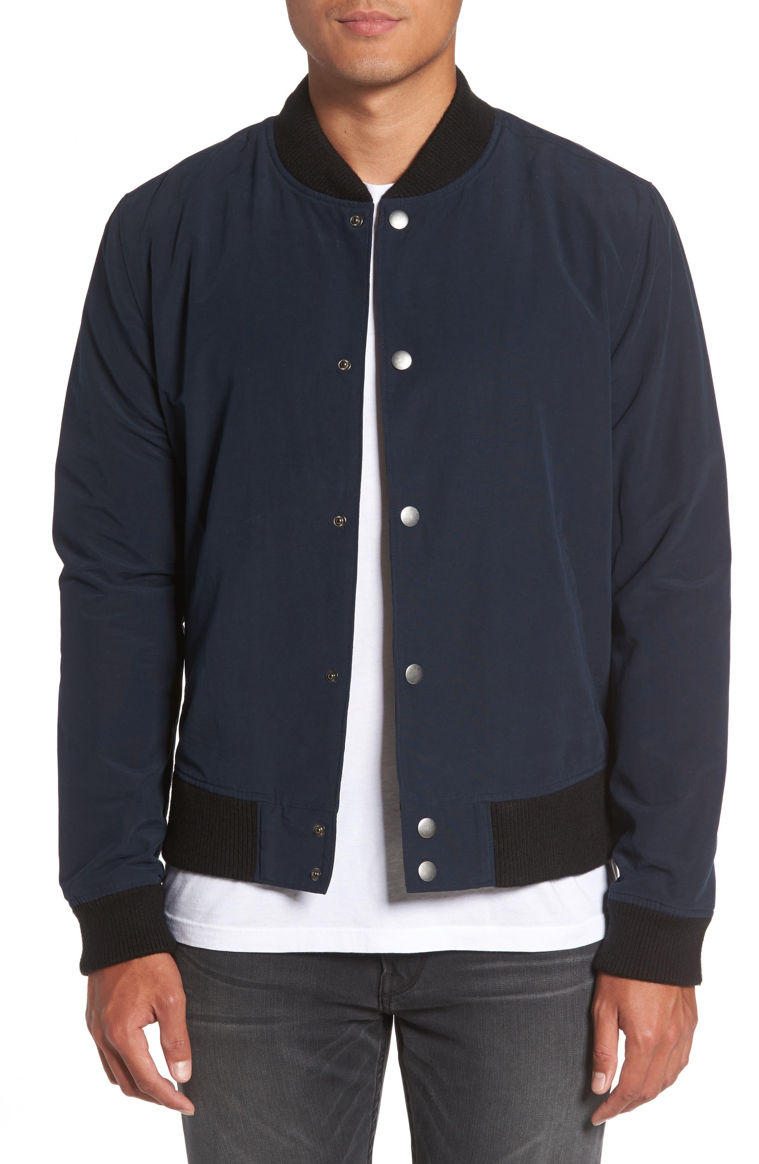 Elliot Bomber Jacket,                         Main,                         color, Midnight Moon