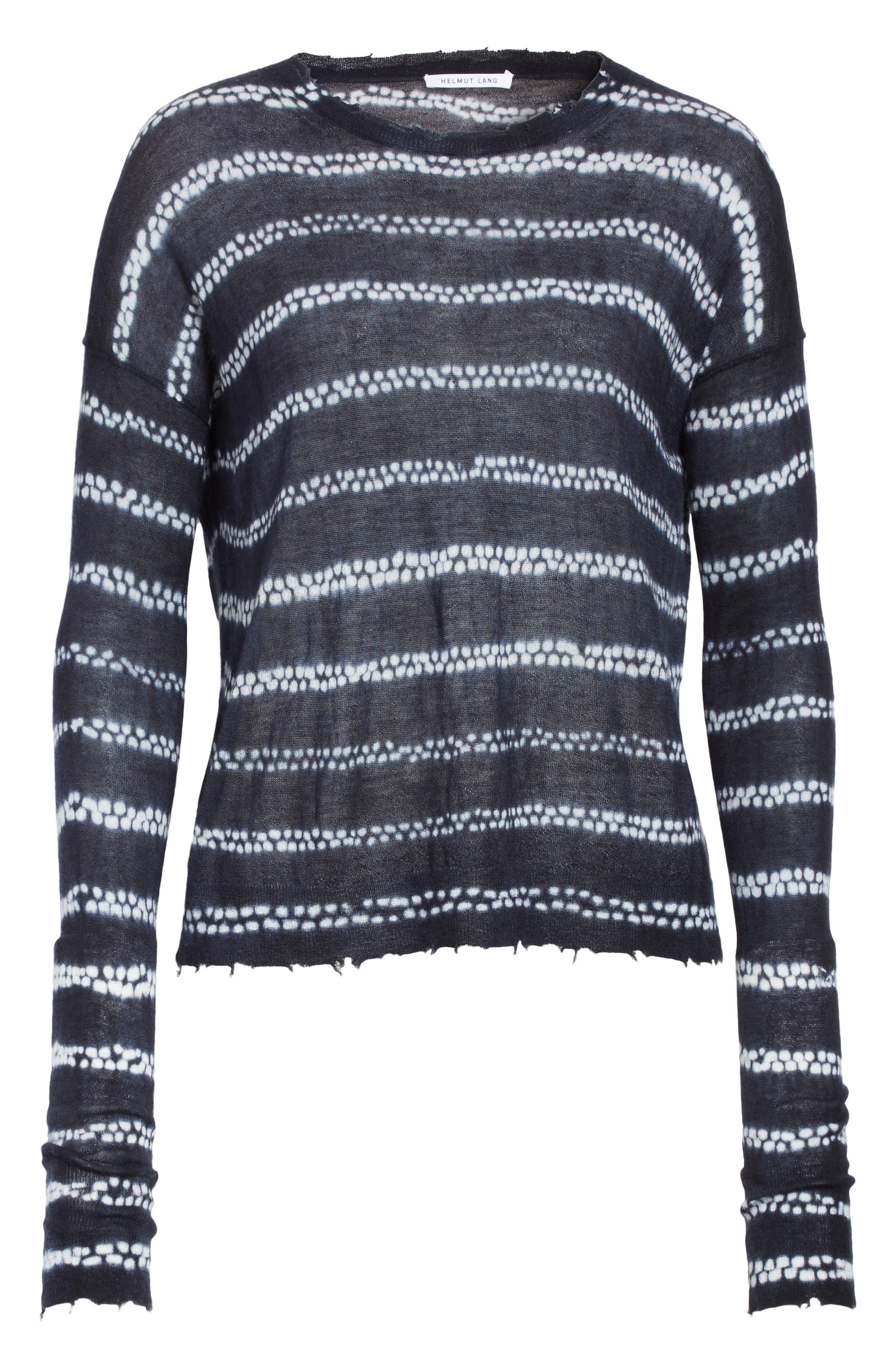 Alternate Image 6  - Helmut Lange Grunge Stripe Cashmere Sweater