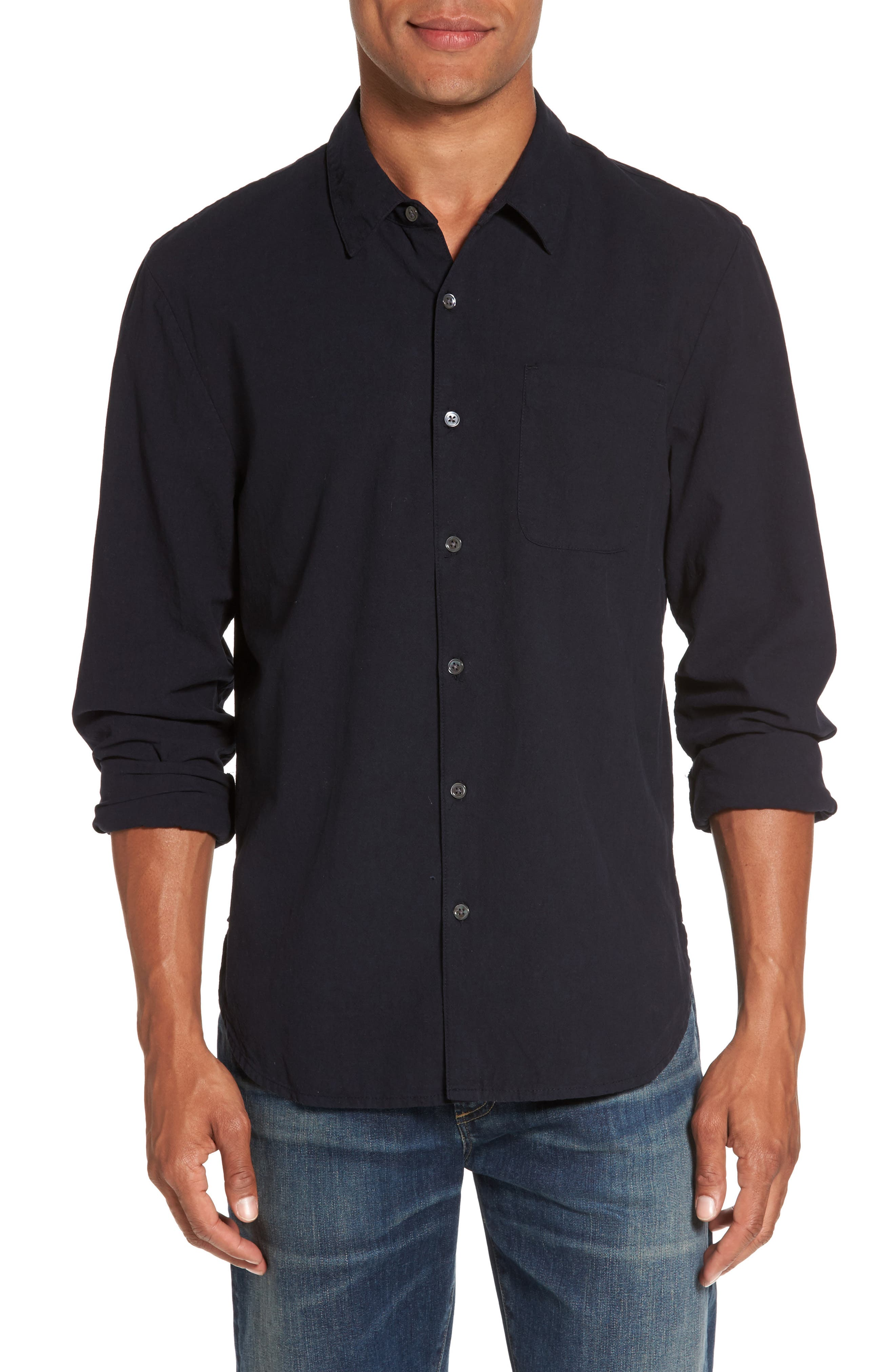 James Perse Slim Cotton Sport Shirt