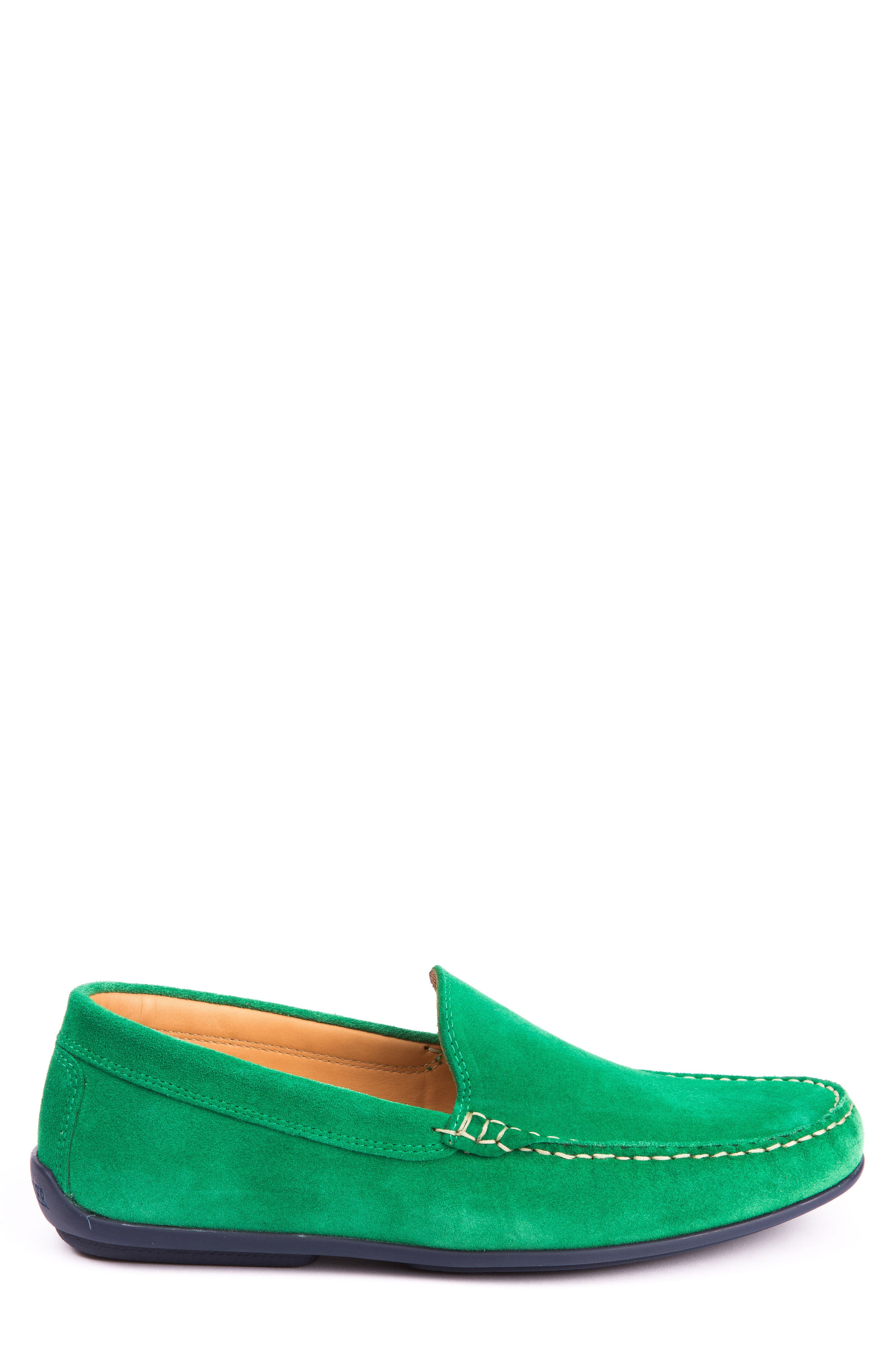 Fairways Driving Shoe,                             Alternate thumbnail 3, color,                             Green Suede
