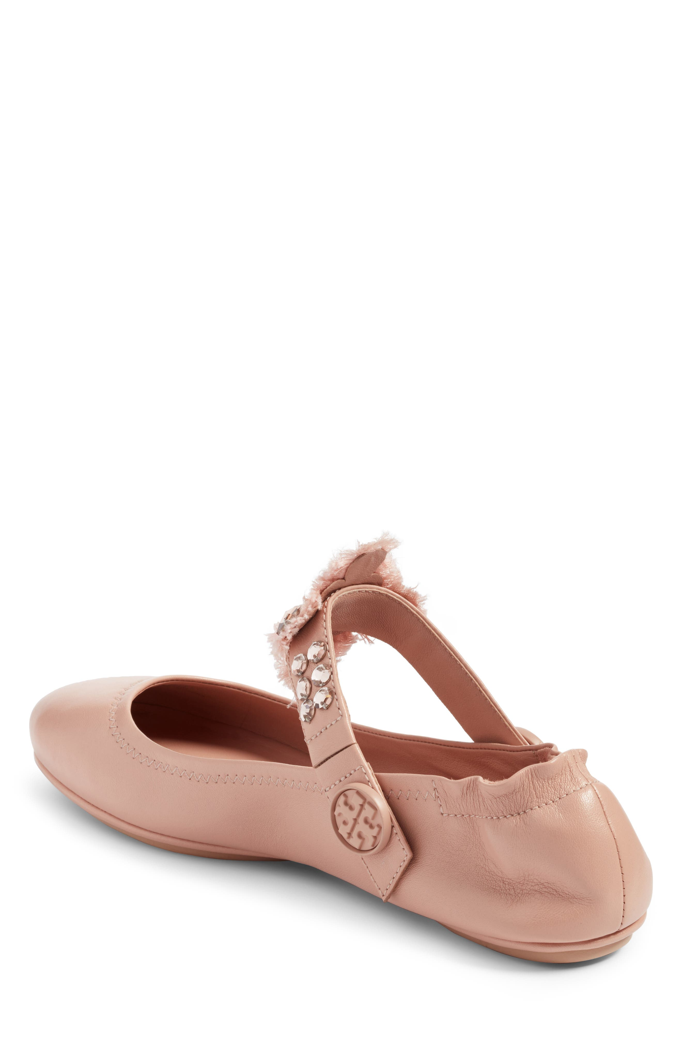 Alternate Image 2  - Tory Burch Minnie Embellished Convertible Strap Ballet Flat (Women)