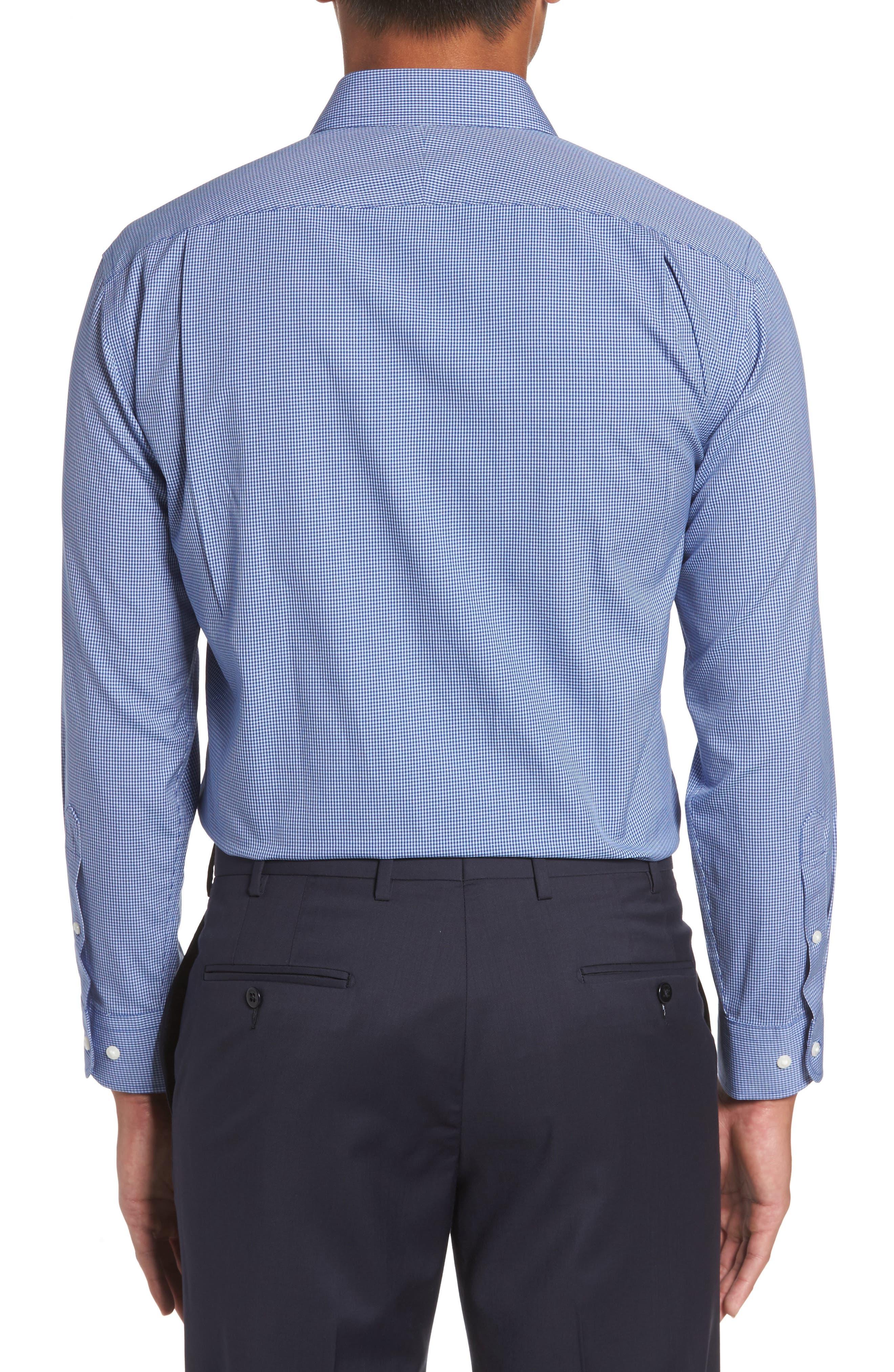 Smartcare<sup>™</sup> Trim Fit Check Dress Shirt,                             Alternate thumbnail 2, color,                             Blue Nautical