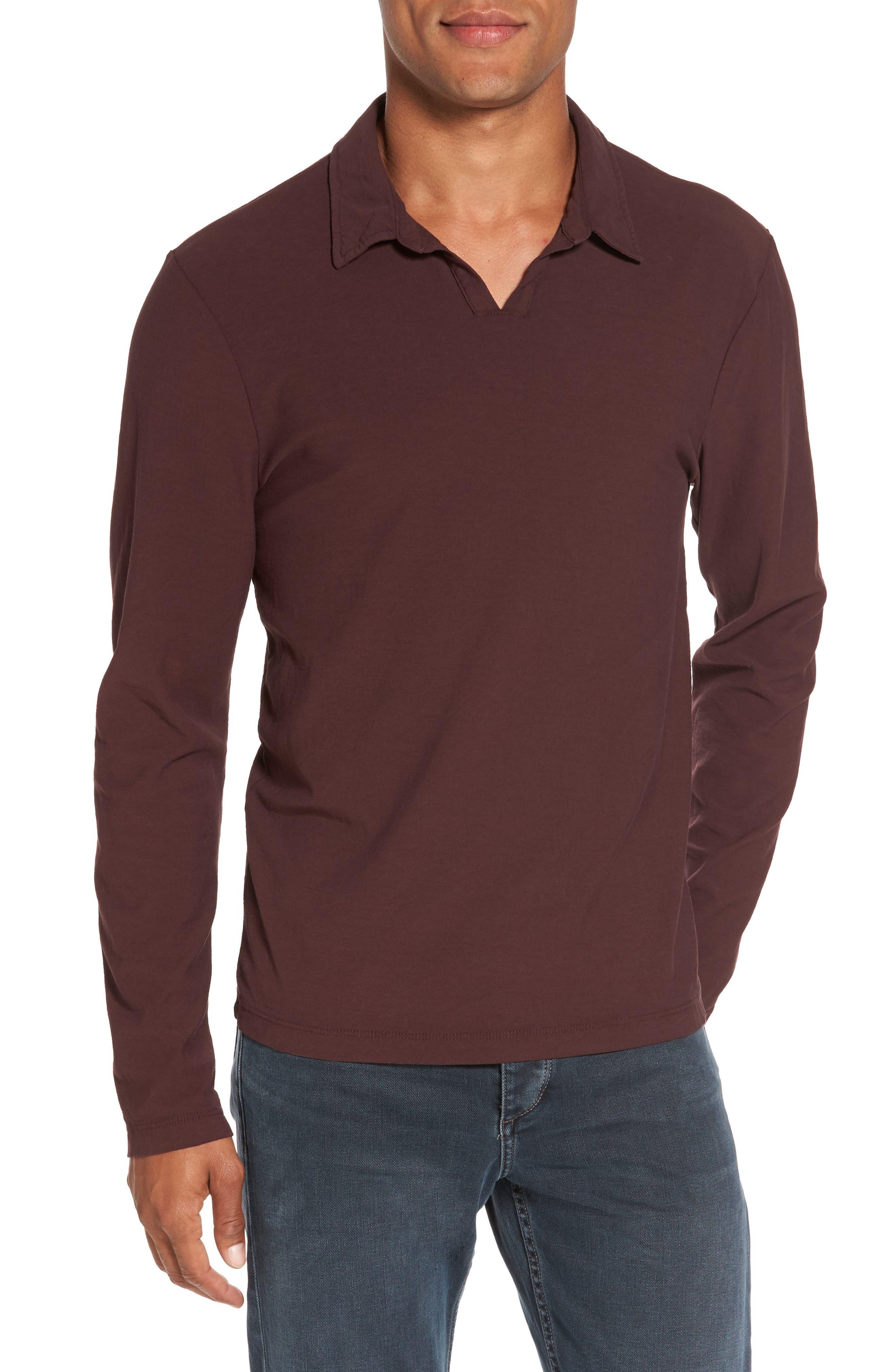 James Perse Long Sleeve Cotton Polo