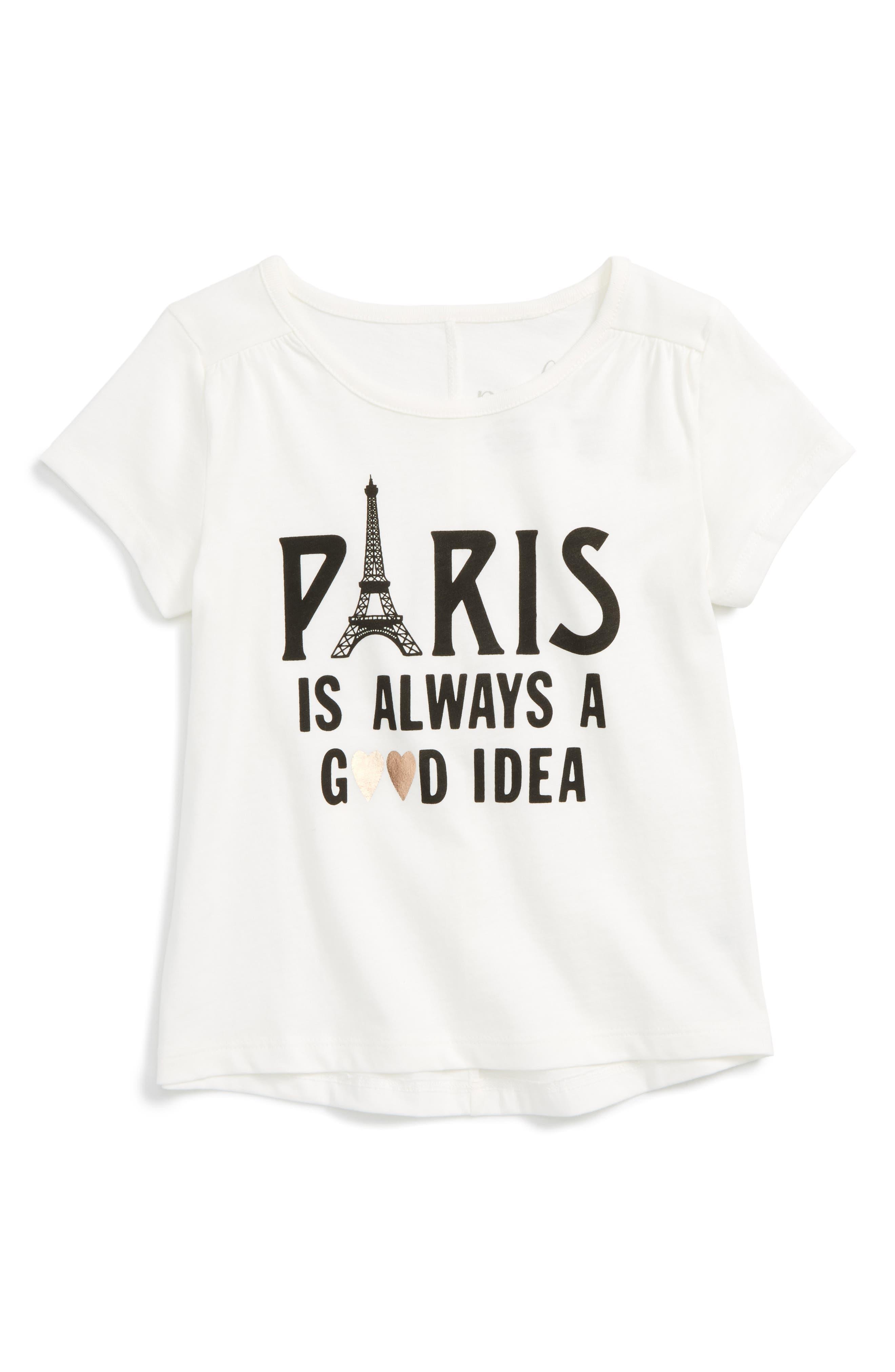 Peek Paris is Always a Good Idea Tee (Toddler Girls, Little Girls & Big Girls)