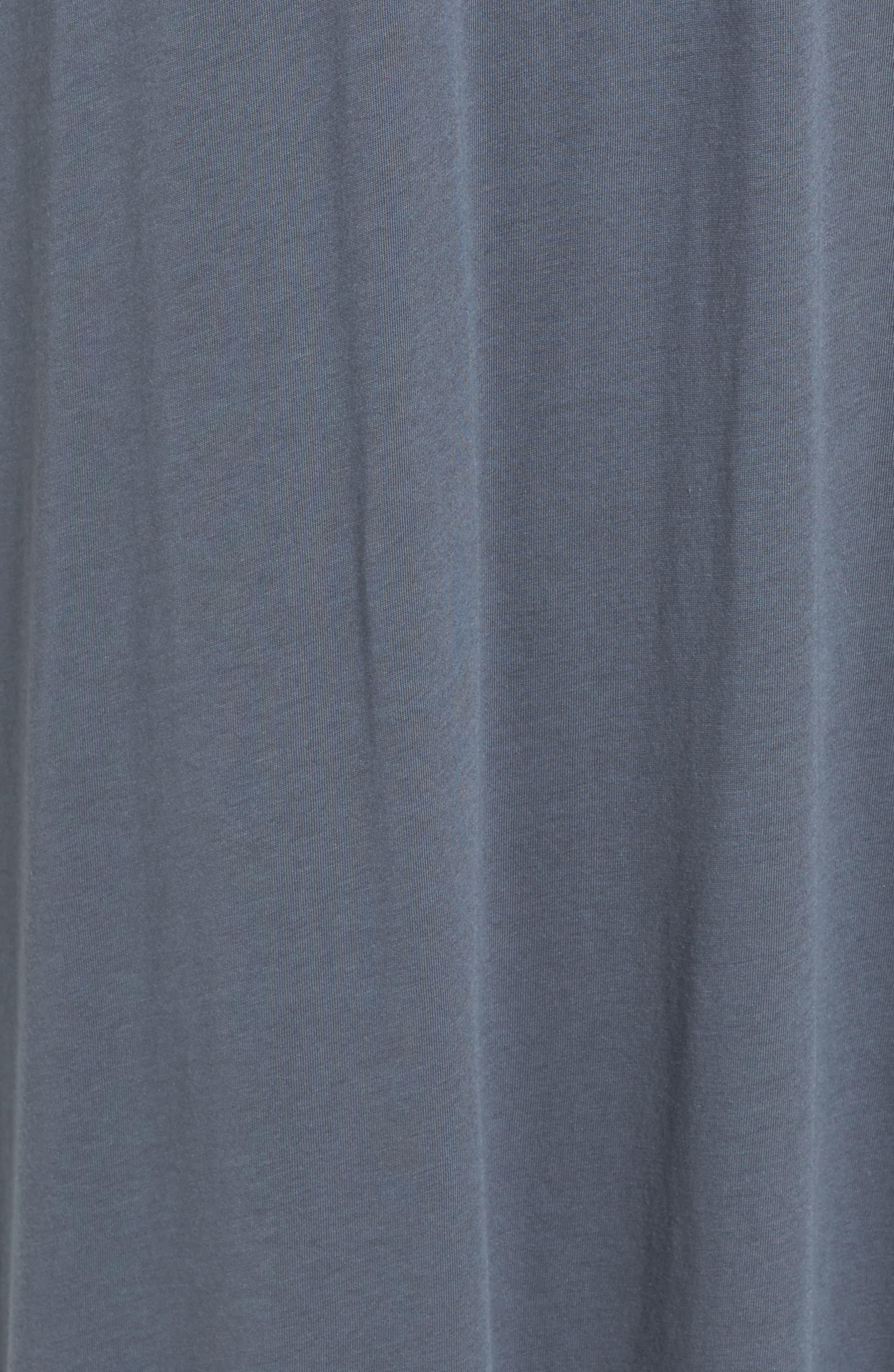 Cotton & Modal Long Nightgown,                             Alternate thumbnail 6, color,                             Grey
