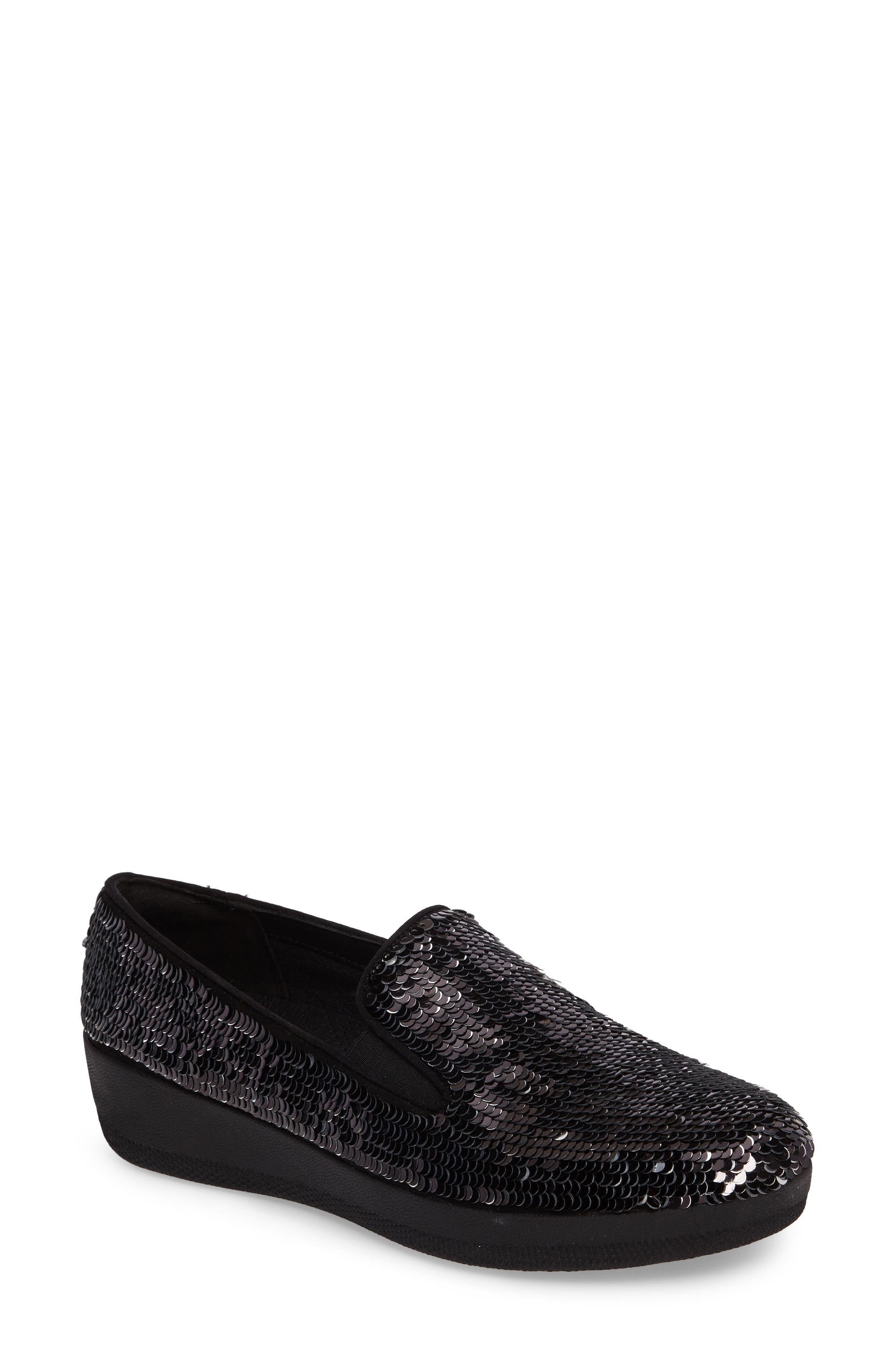 FitFlop Superskate Sequin Slip-On Sneaker (Women)