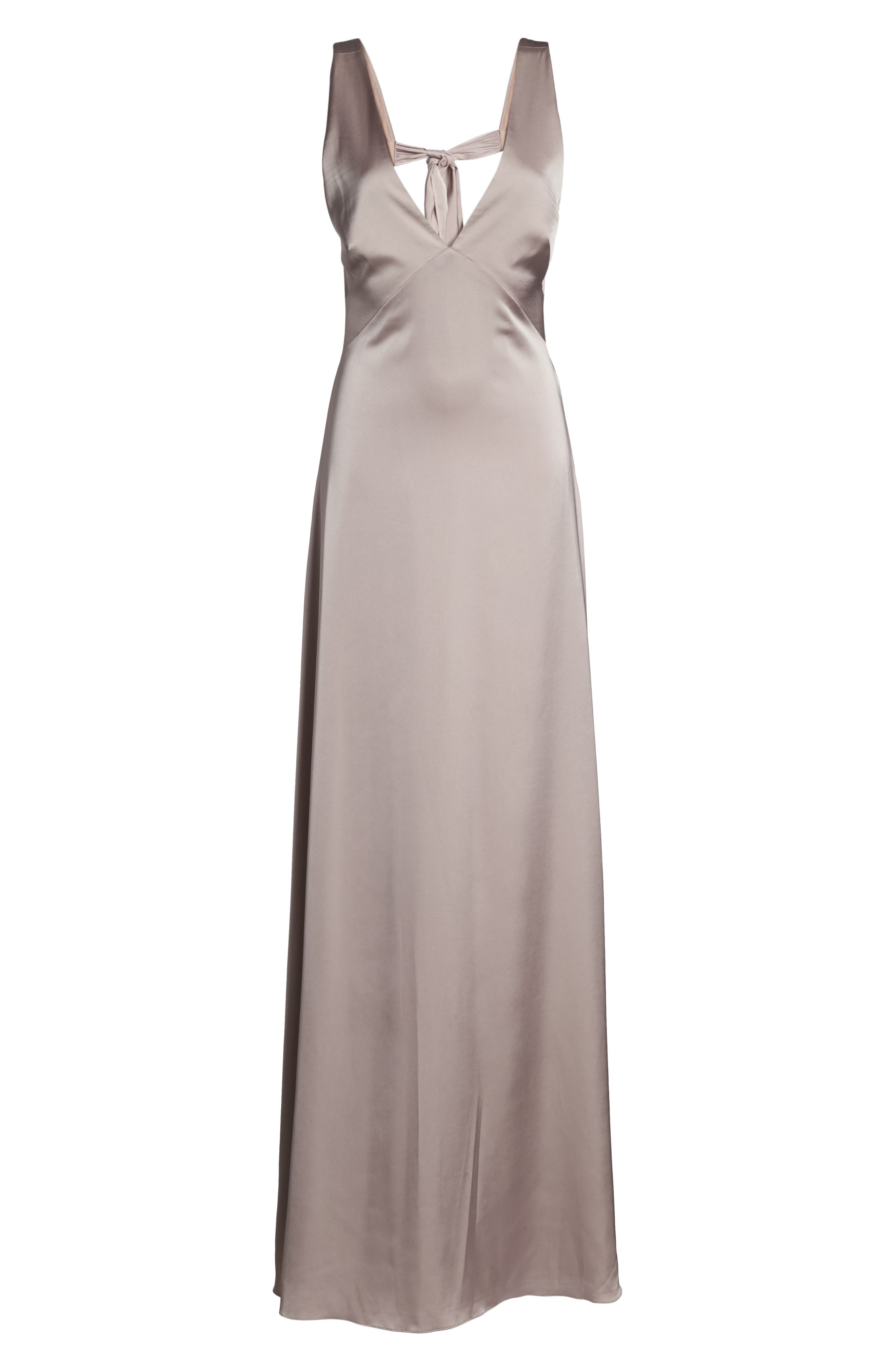 Alternate Image 7  - Monique Lhuillier Bridesmaids Dasha Tie Back Sateen Gown