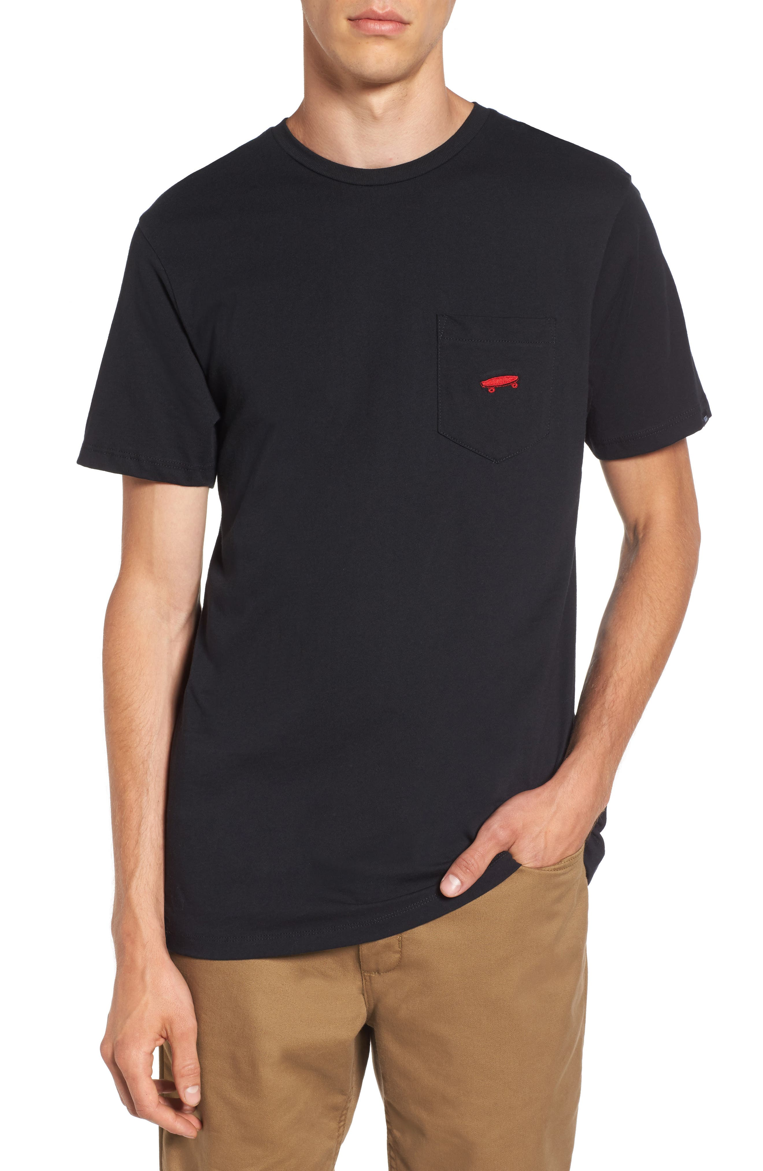 Alternate Image 1 Selected - Vans Everyday Embroidered Pocket T-Shirt