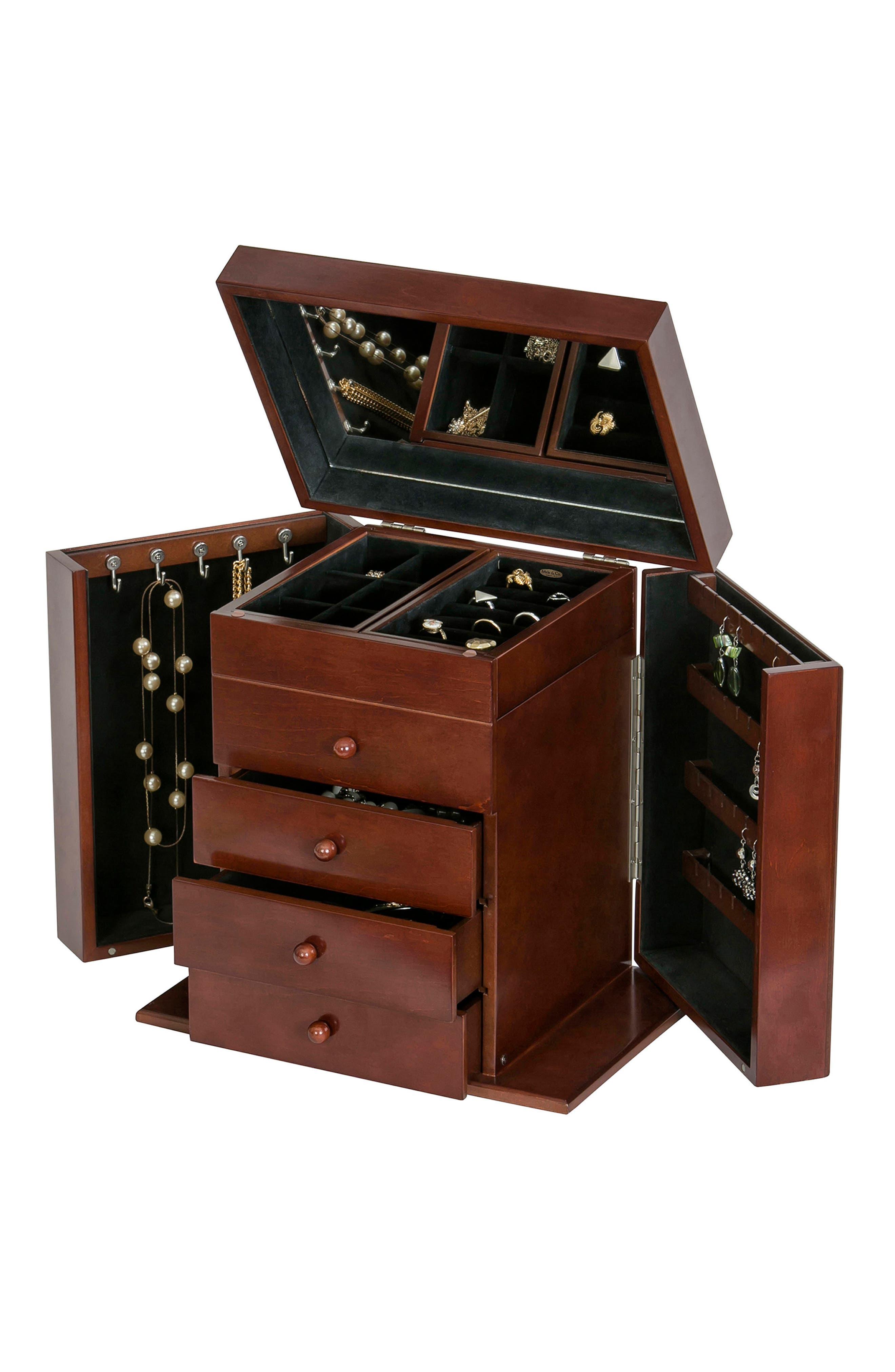 Shelburne Jewelry Box,                             Alternate thumbnail 2, color,                             Brown
