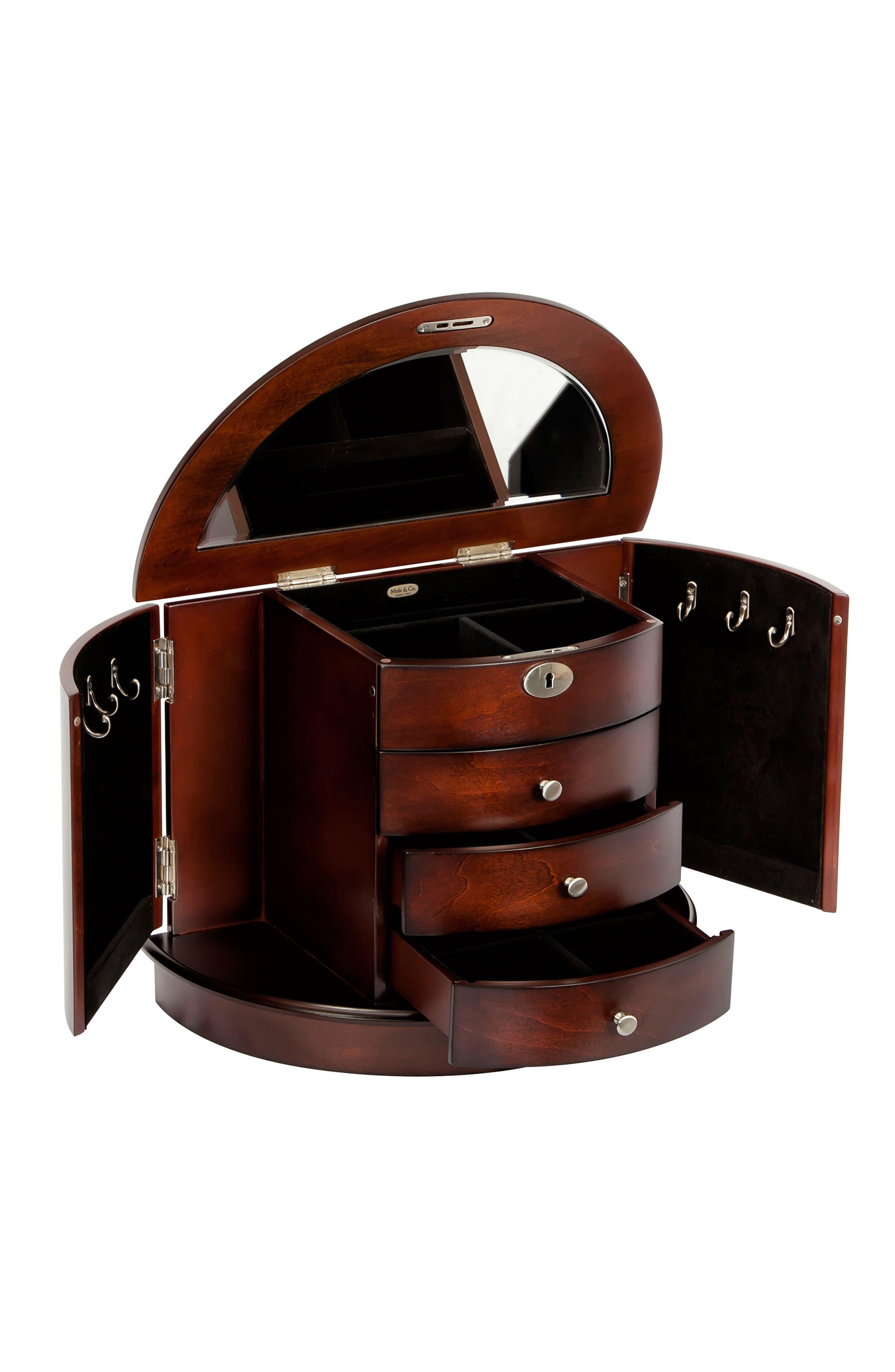 Alternate Image 2  - Mele & Co. York Locking Jewelry Box