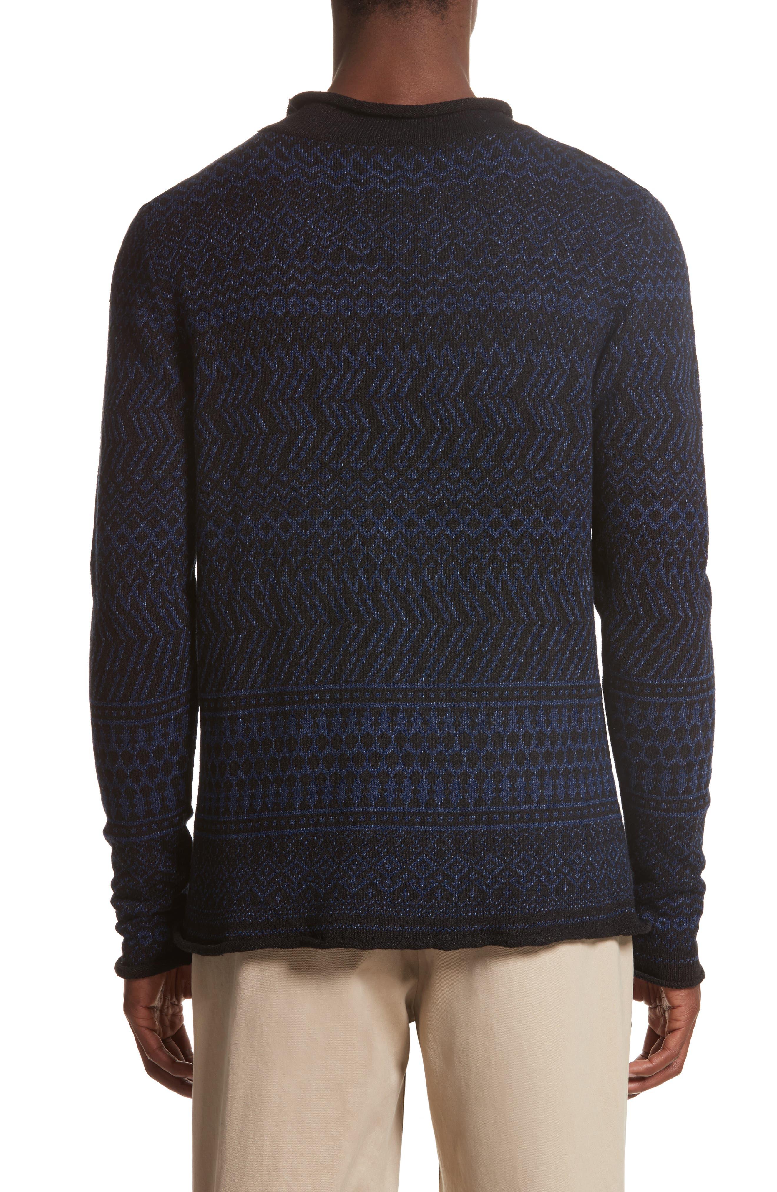 Alternate Image 2  - Eidos Napoli Fair Isle Roll Neck Sweater
