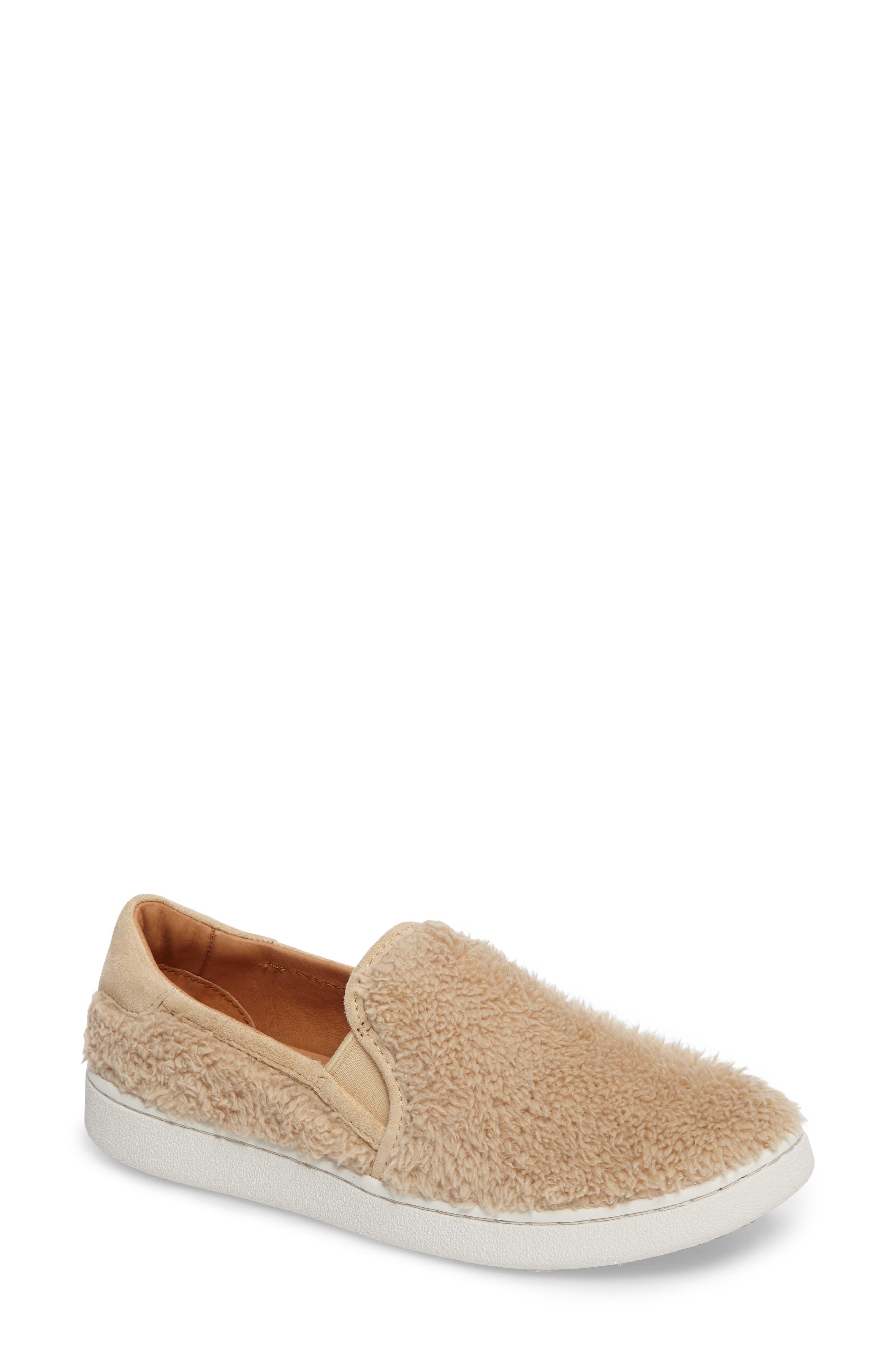 Alternate Image 1 Selected - UGG® Ricci Plush Slip-On Sneaker (Women)