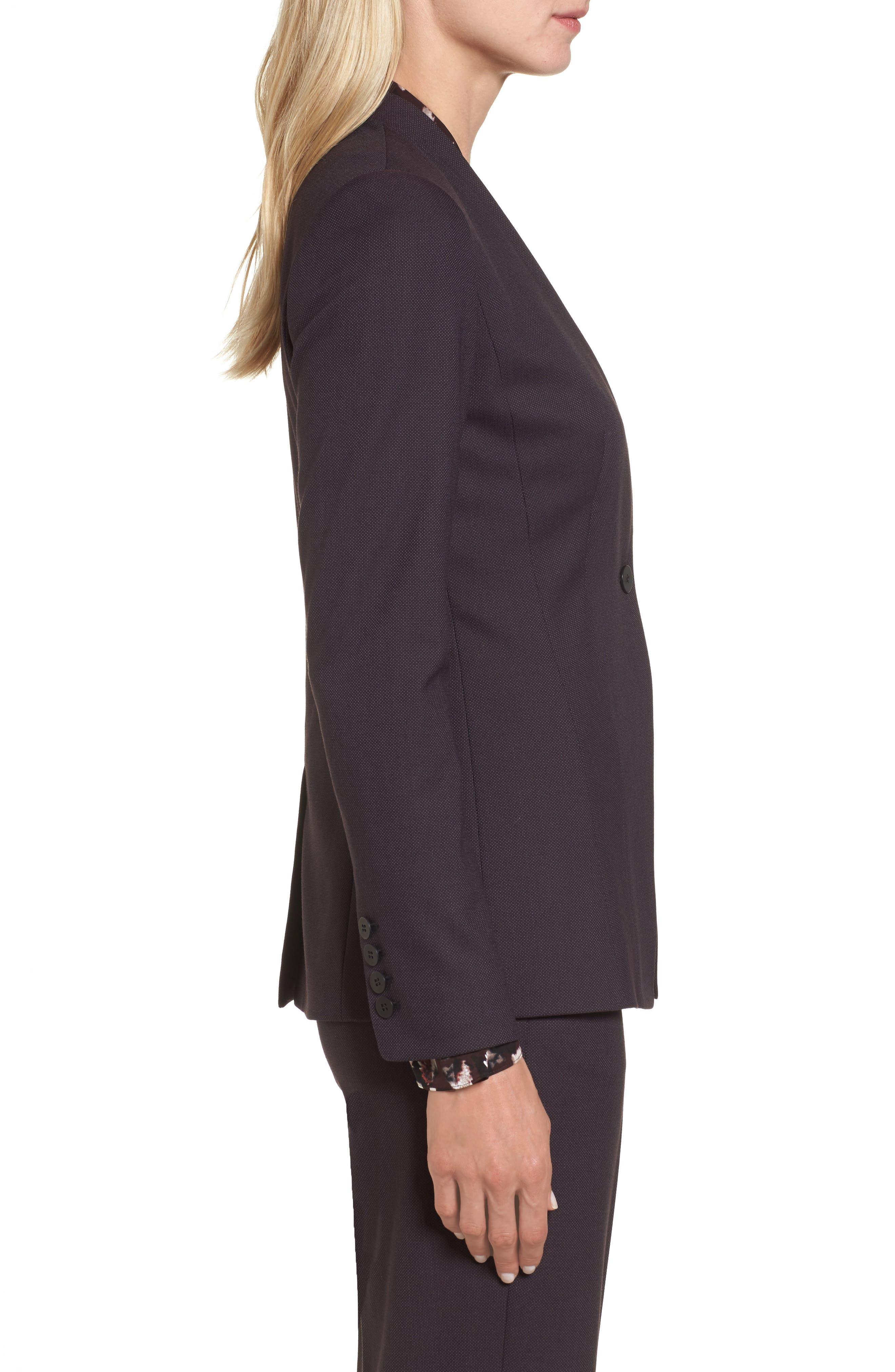 One-Button Suit Jacket,                             Alternate thumbnail 4, color,                             Burgundy