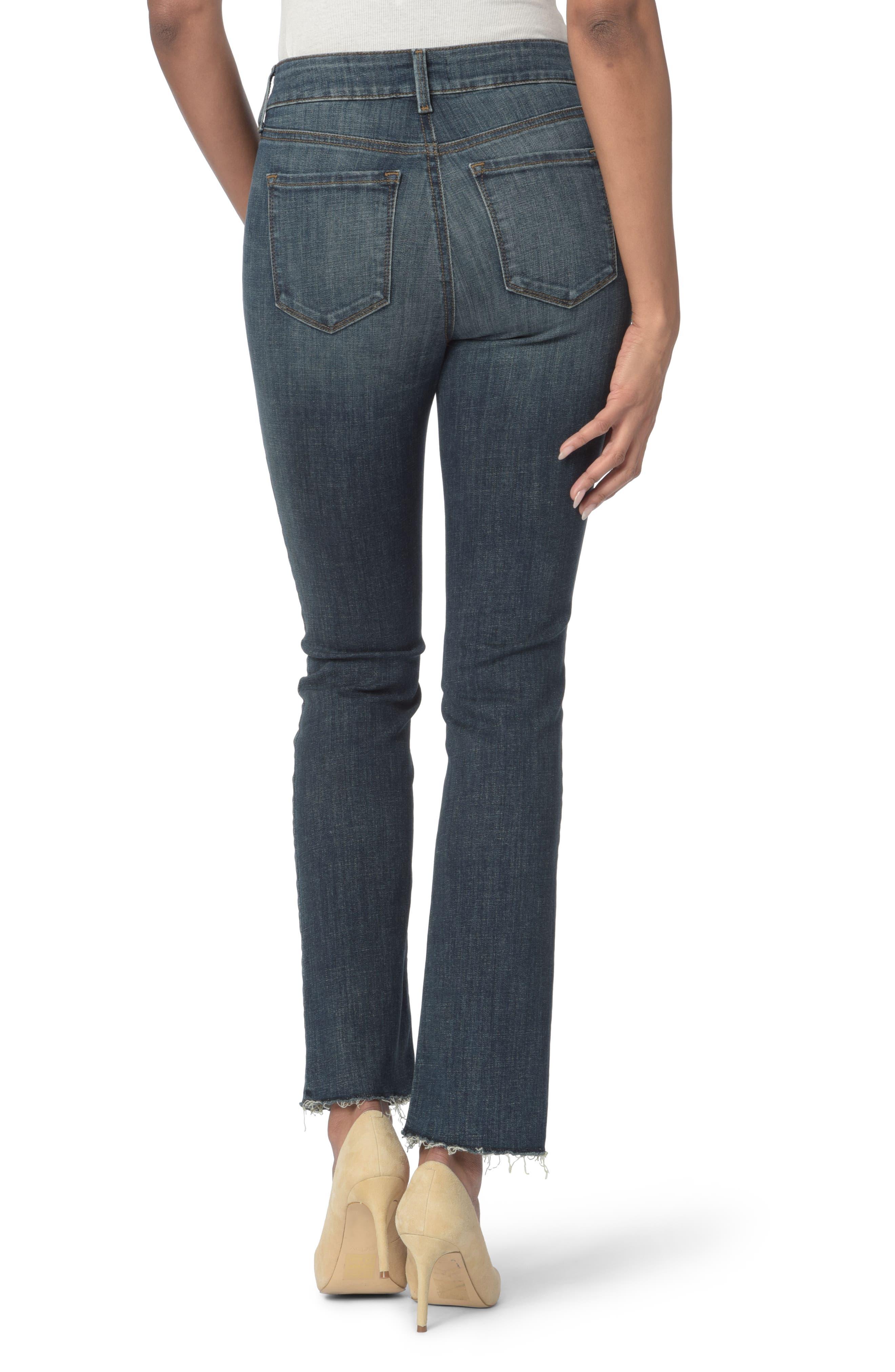 Marilyn Raw Hem Stretch Ankle Straight Leg Jeans,                             Alternate thumbnail 2, color,                             Desert Gold
