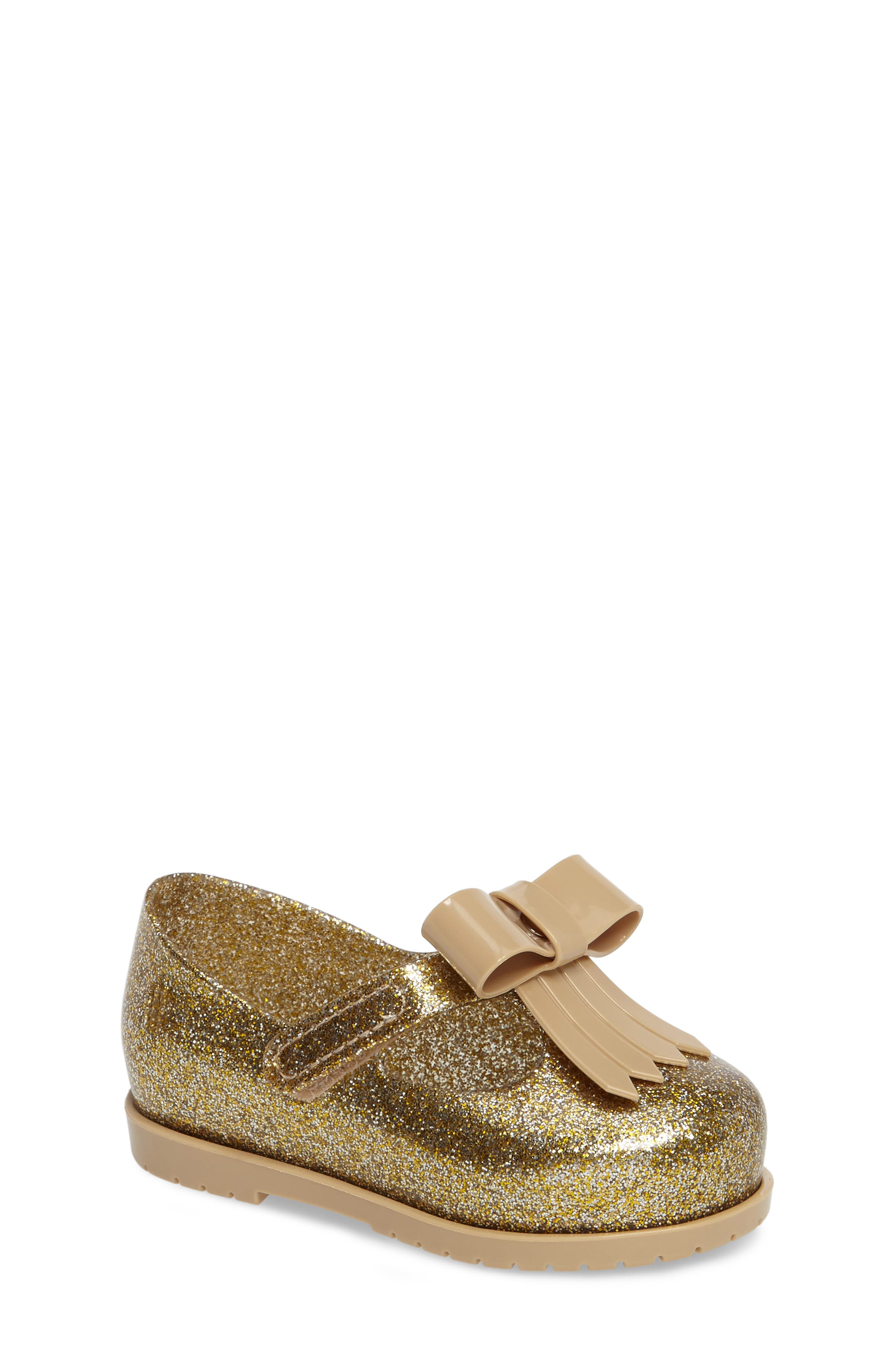 Classic Baby II Mary Jane,                         Main,                         color, Gold Glass Glitter