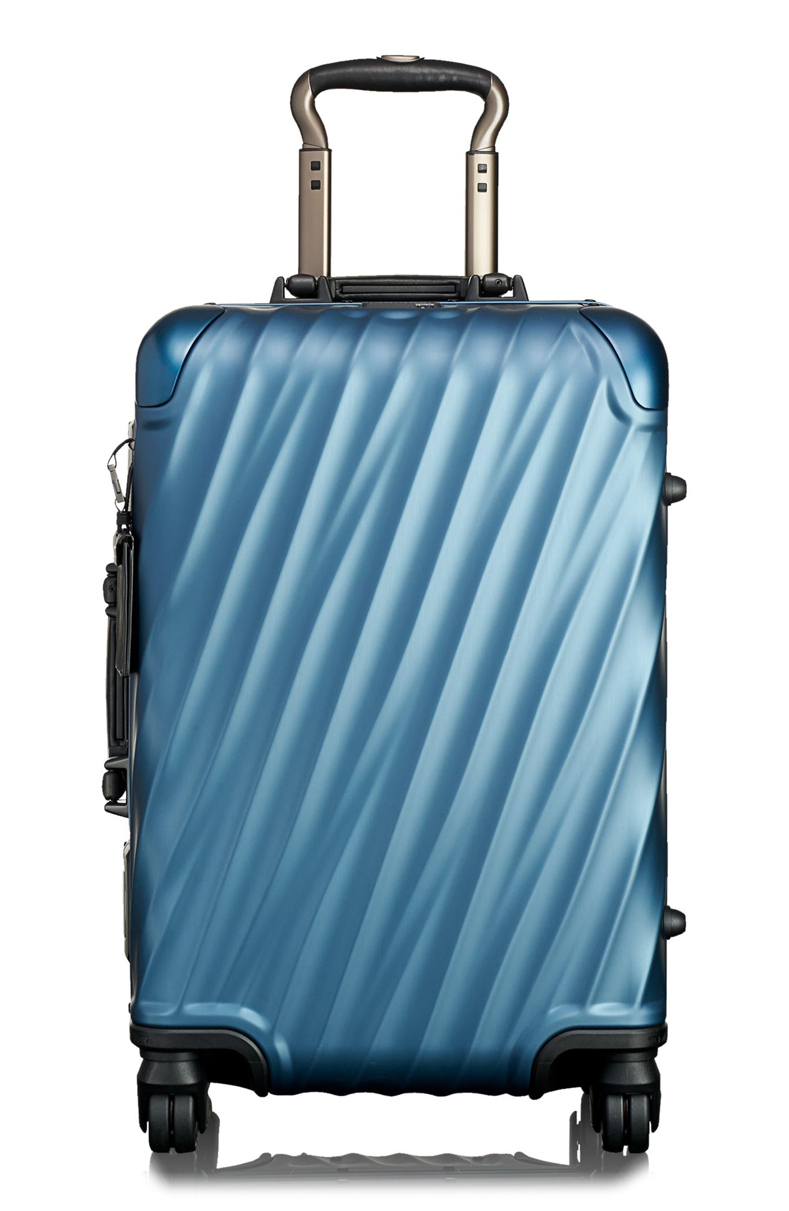 19 Degree 22 Inch International Wheeled Aluminum Carry-On,                             Main thumbnail 1, color,                             Blue
