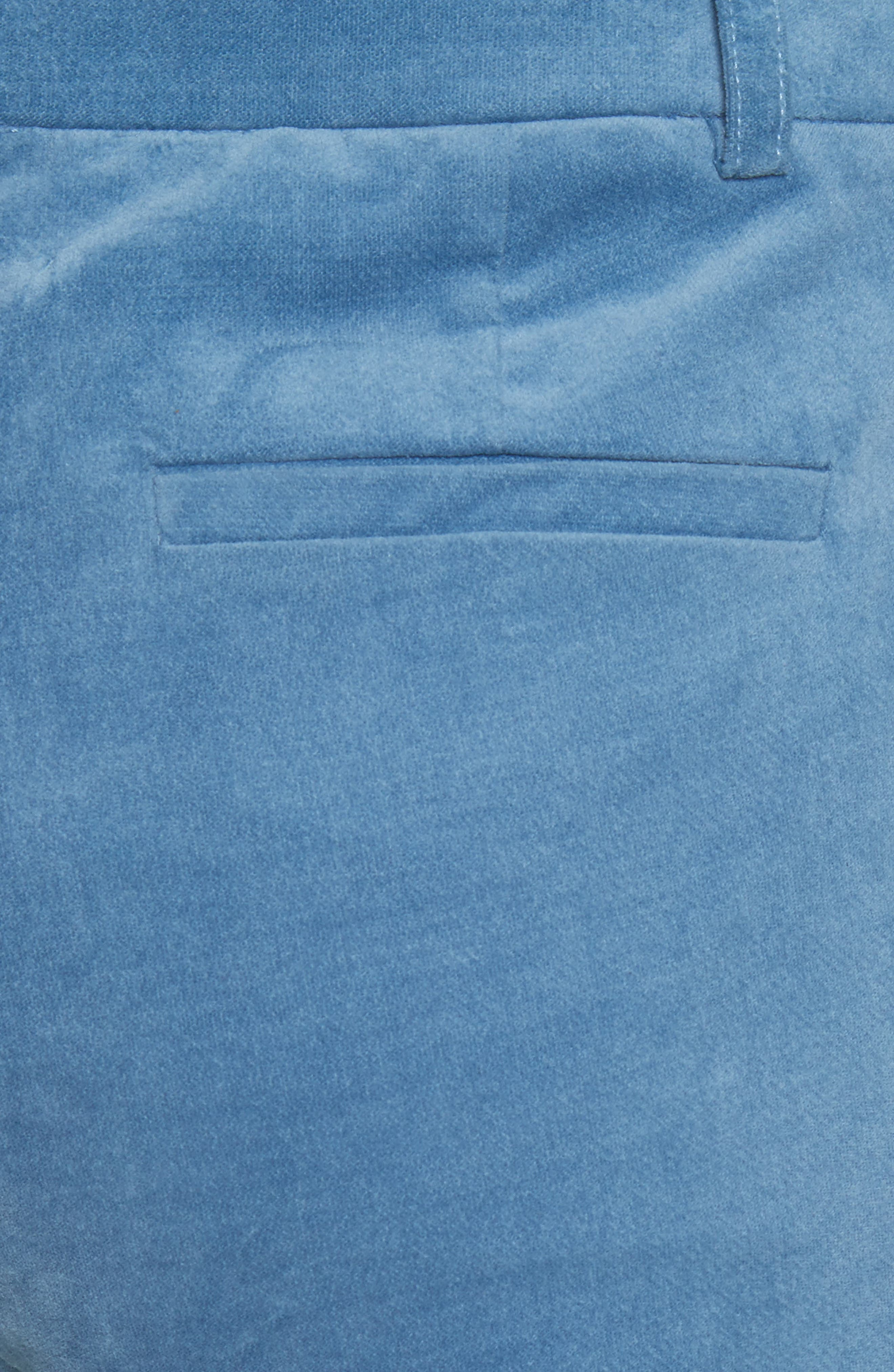 Moleskin Stretch Cotton Skinny Pants,                             Alternate thumbnail 6, color,                             Blue