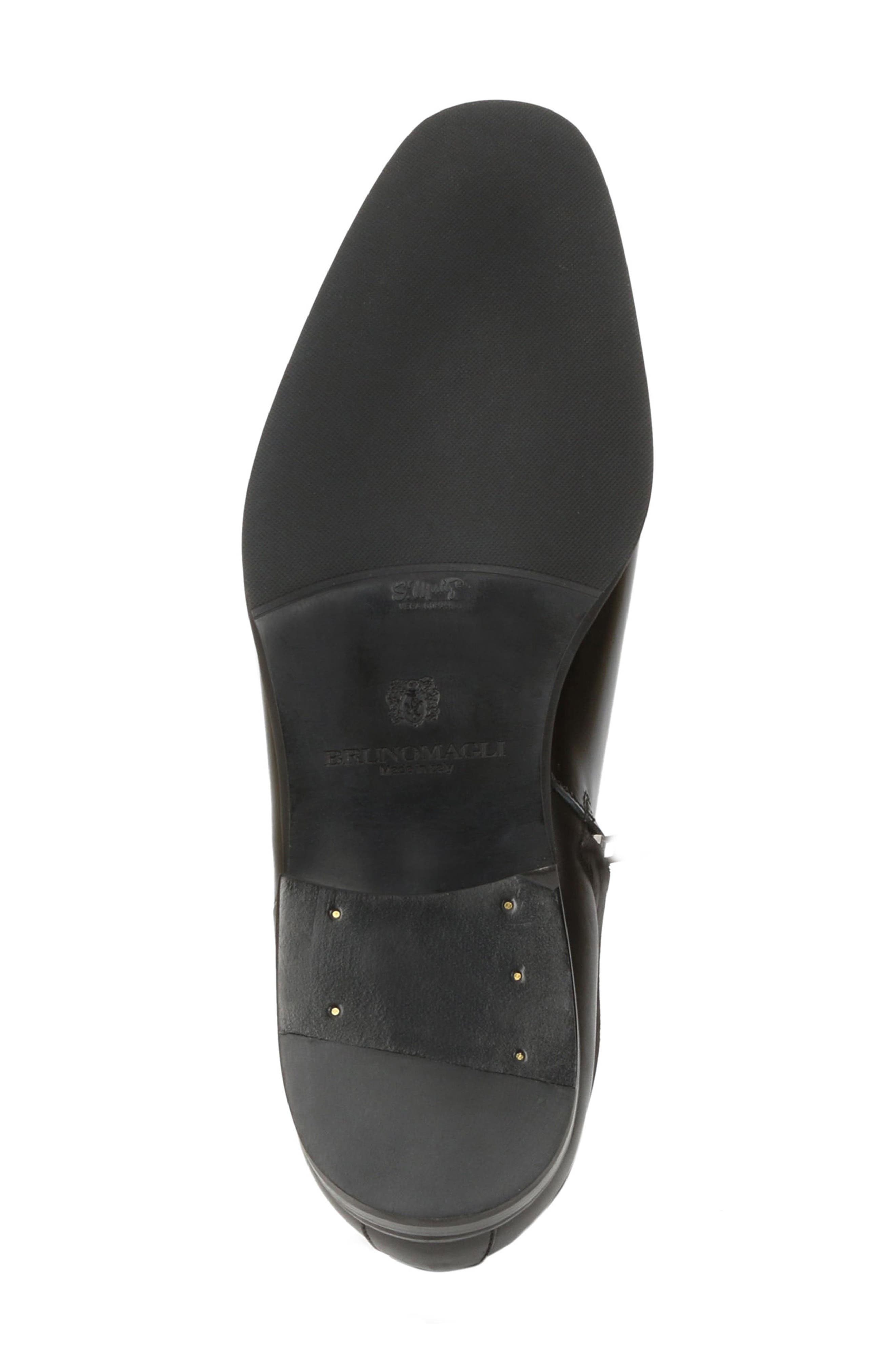 Nuncio Zip Boot,                             Alternate thumbnail 5, color,                             Black Leather