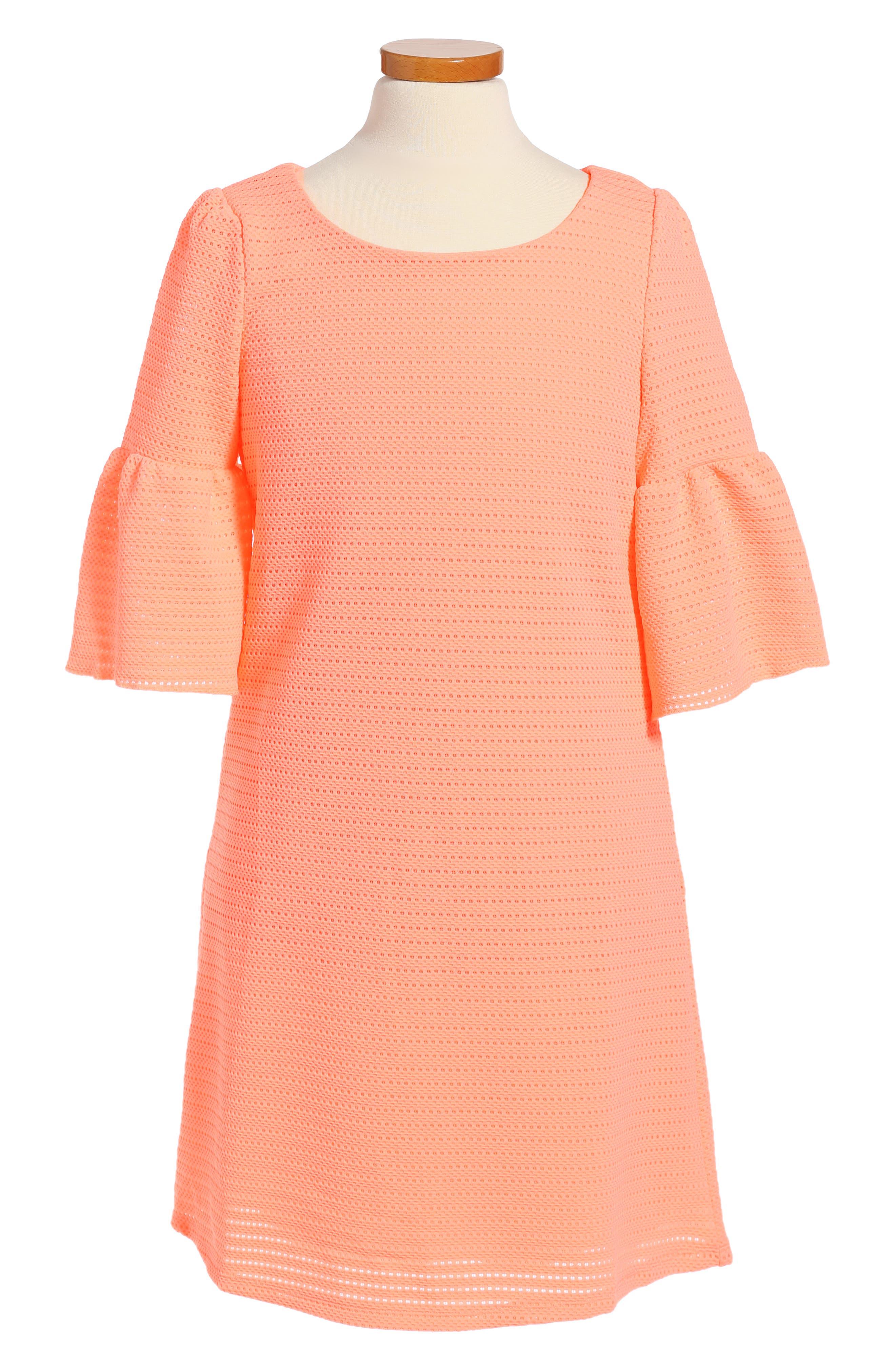Alternate Image 1 Selected - Love, Nickie Lew Bell Sleeve Dress (Big Girls)