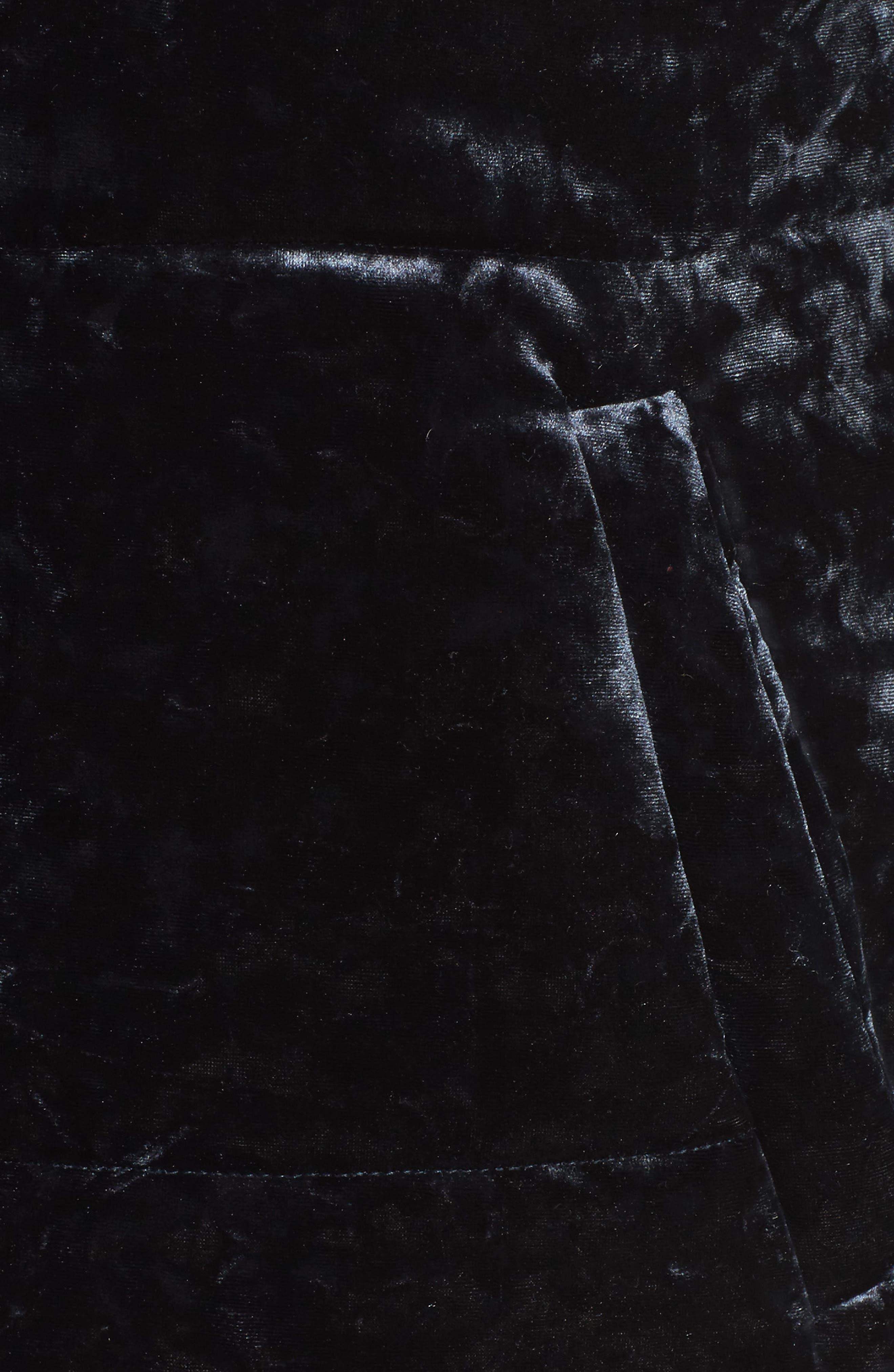 Alternate Image 5  - Bernardo Oversize Velvet Bomber Jacket