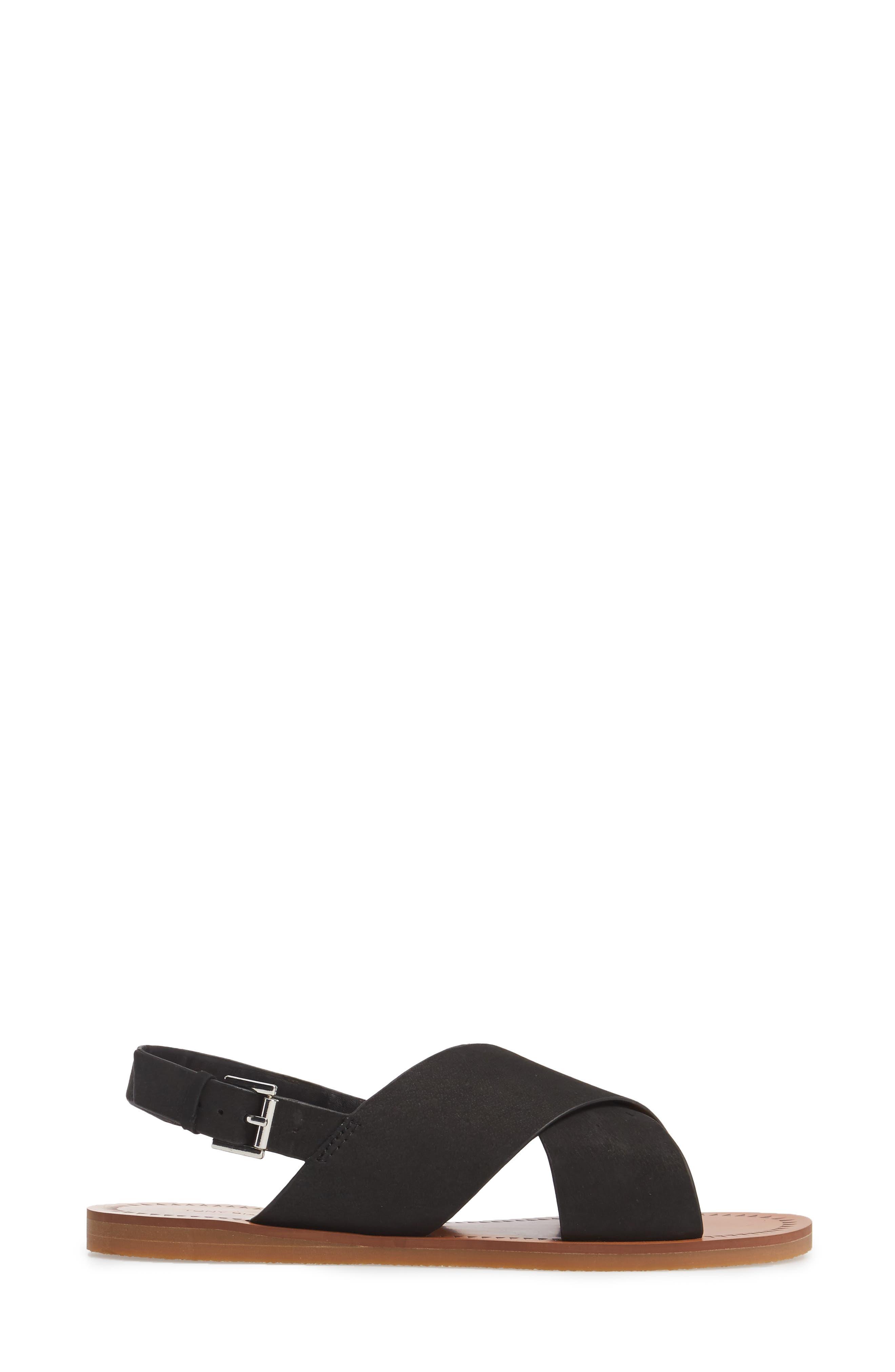 Henri Cross Strap Sandal,                             Alternate thumbnail 3, color,                             Black Phoenix