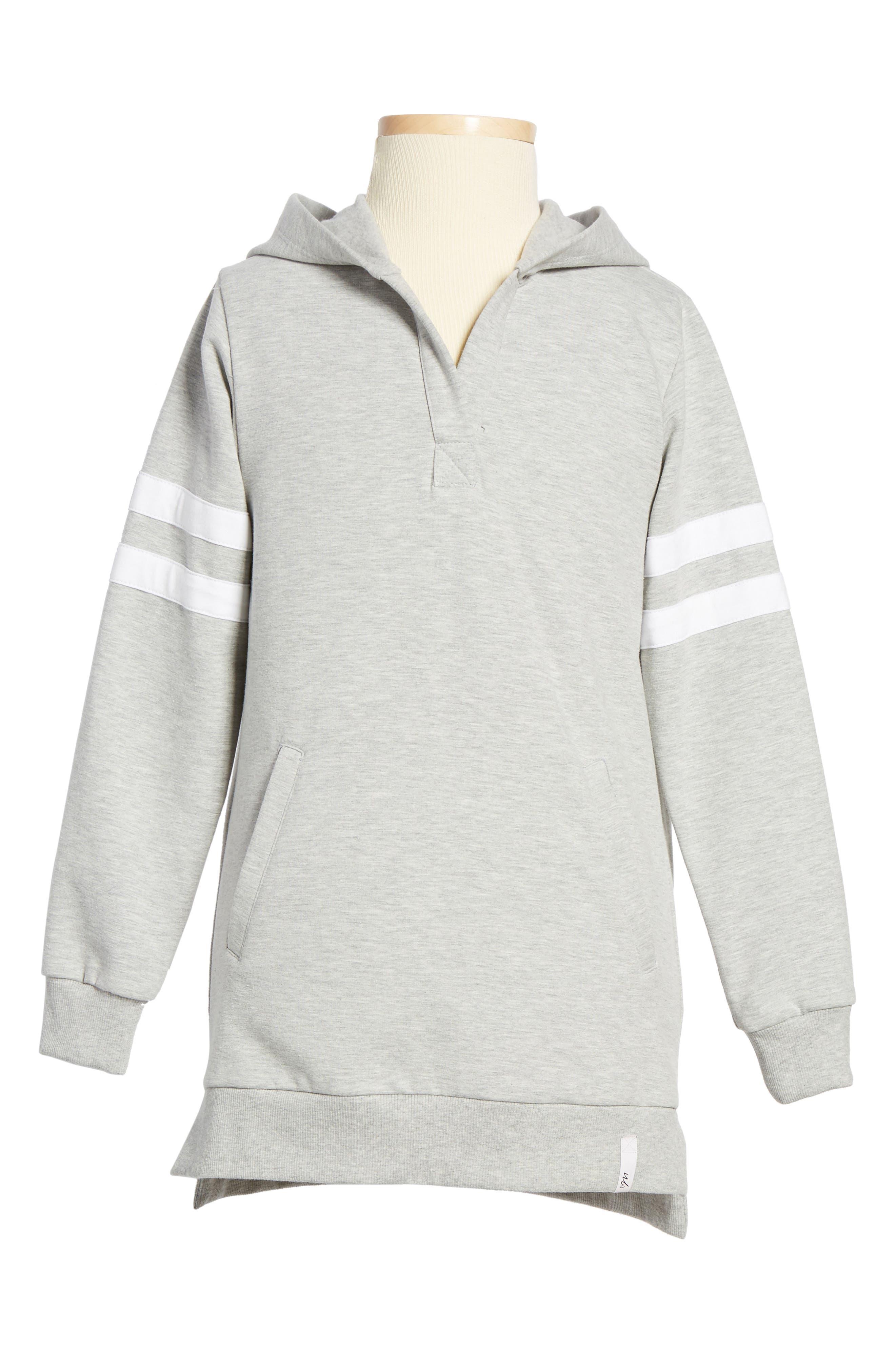 Sneaker Hoodie Dress,                         Main,                         color, Grey