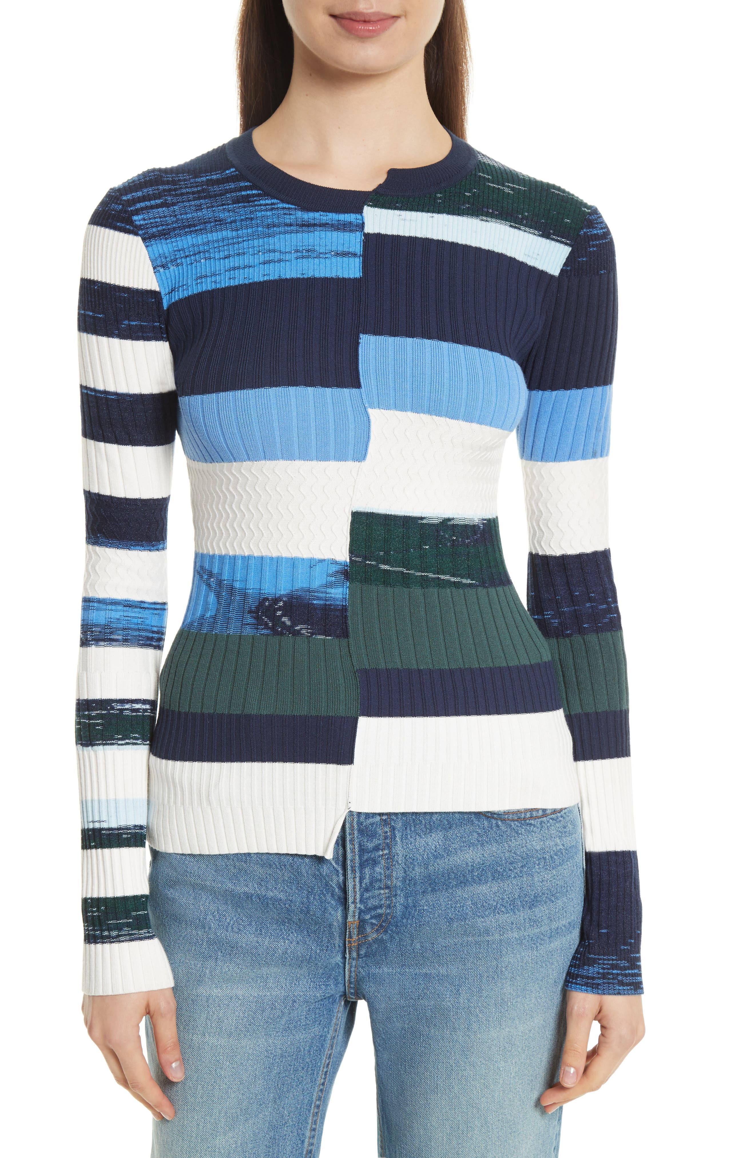 Alternate Image 1 Selected - Opening Ceremony Space Dye Stripe Top